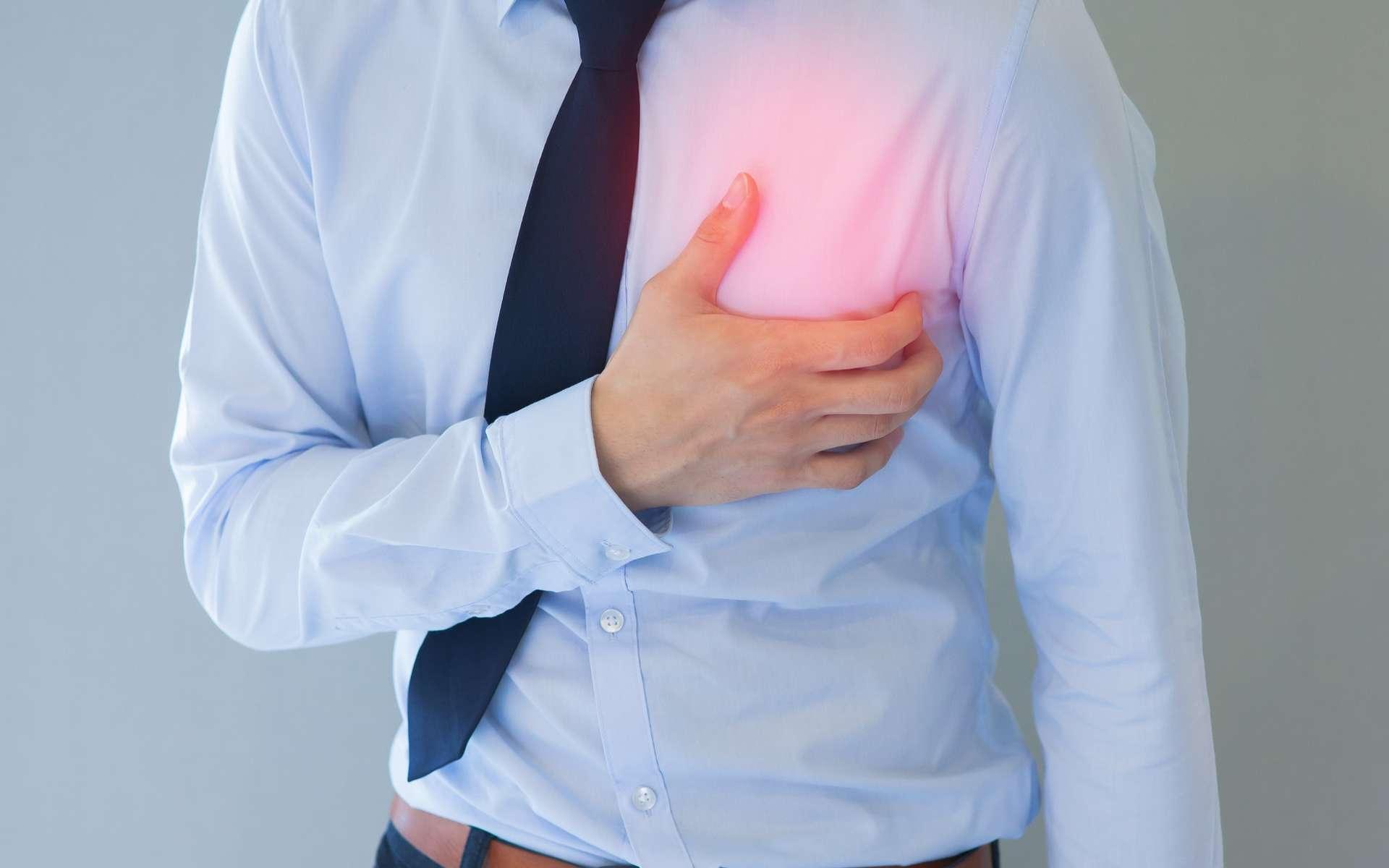 L'infarctus du myocarde (ou crise cardiaque) relève de l'urgence médicale. © Twinsterphoto, Shutterstock