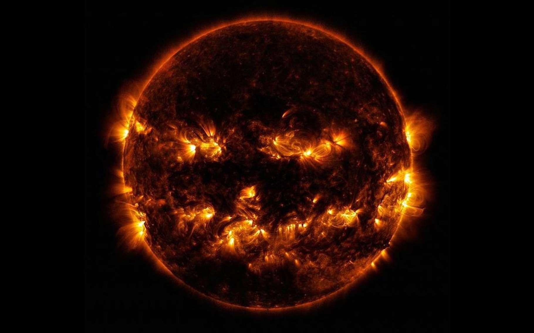 Cette semaine, la Nasa a publié quelques photos spéciales Halloween. Parmi elles, cette image du Soleil qui donne la chair de poule. © Nasa, GSFC, SDO