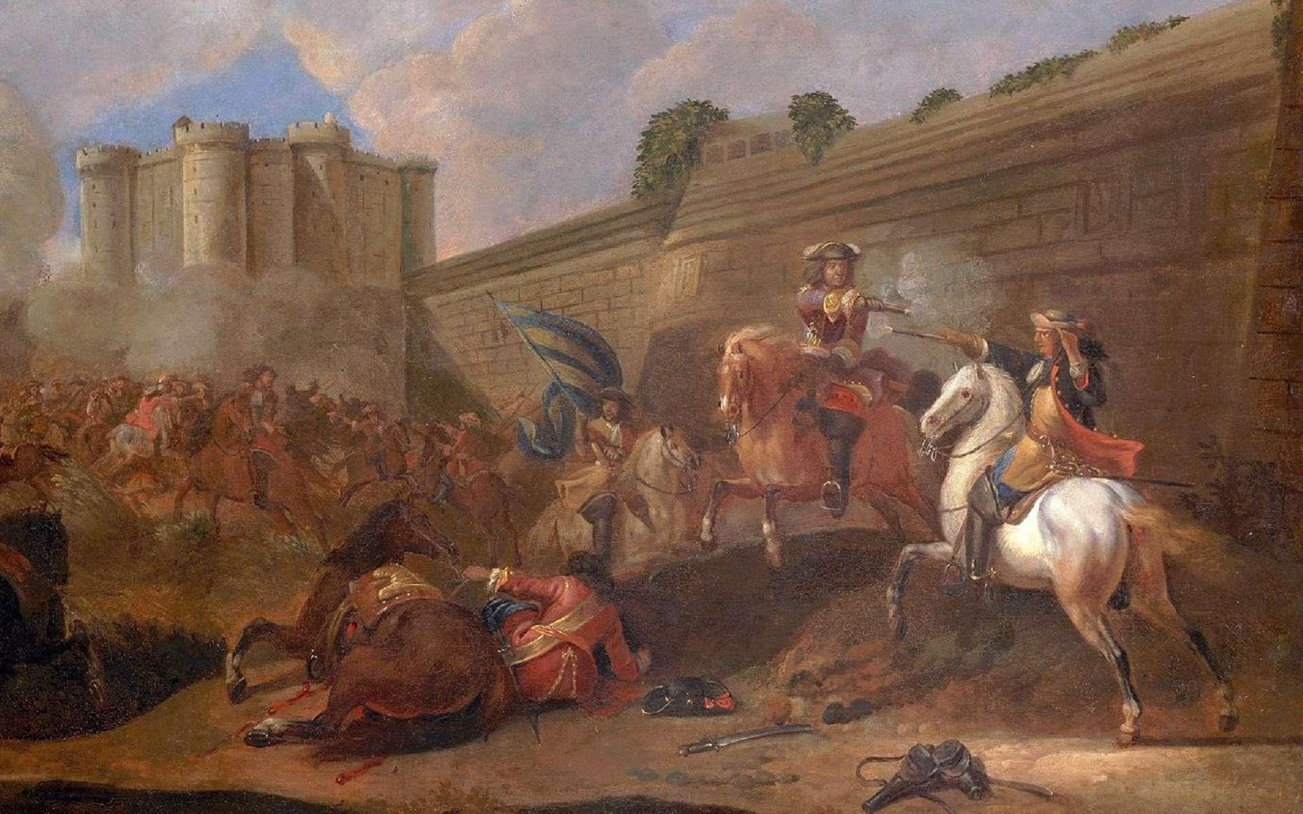 Combat lors de la Fronde à Paris, au faubourg Saint-Antoine, devant la Bastille en 1652. Anonyme, Château de Versailles. © RMN, Grand Palais (Château de Versailles), domaine public