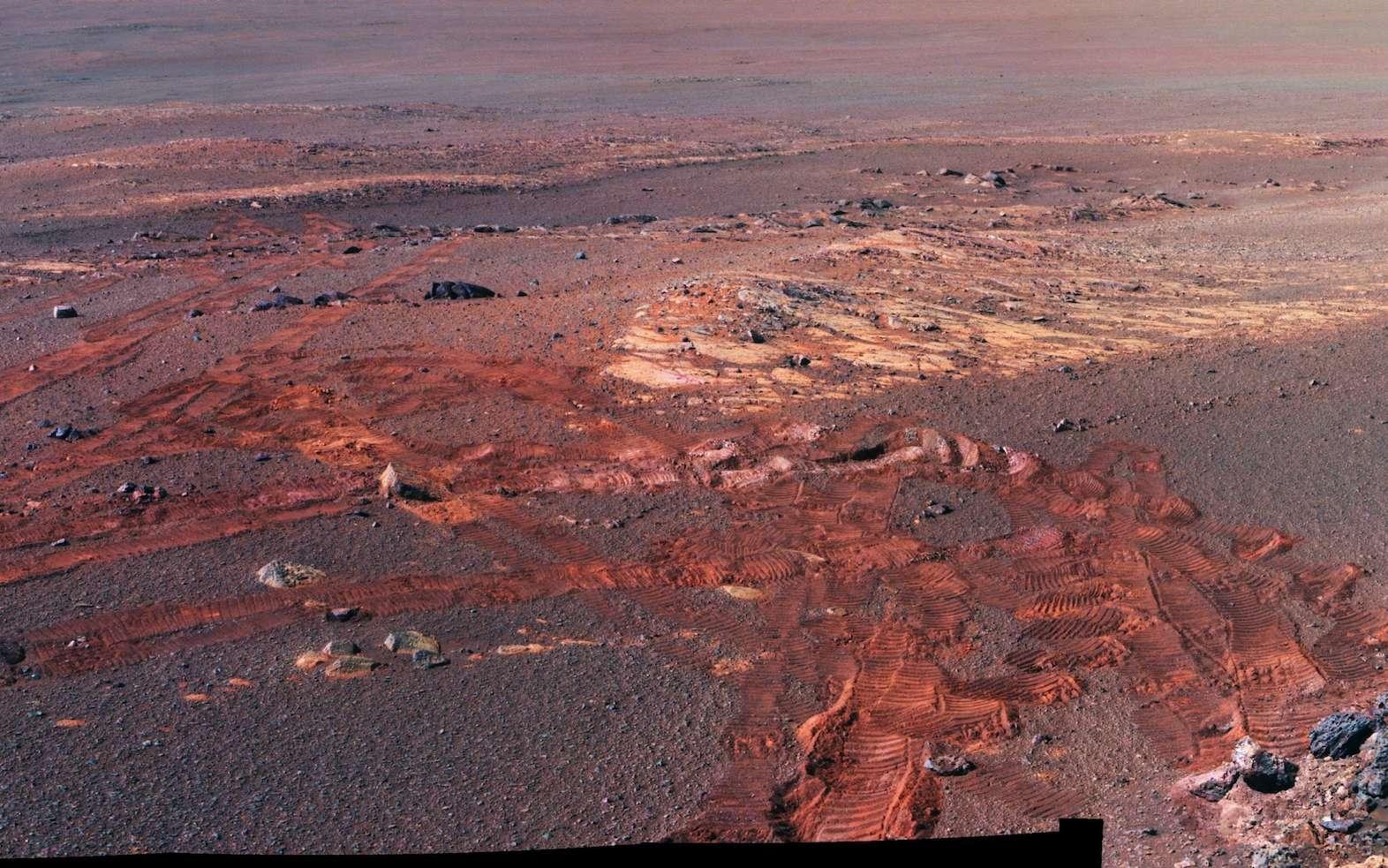 Extrait du panorama photographié par Opportunity entre le 13 mai et le 10 juin 2018. © Nasa, JPL-Caltech, Cornell, ASU