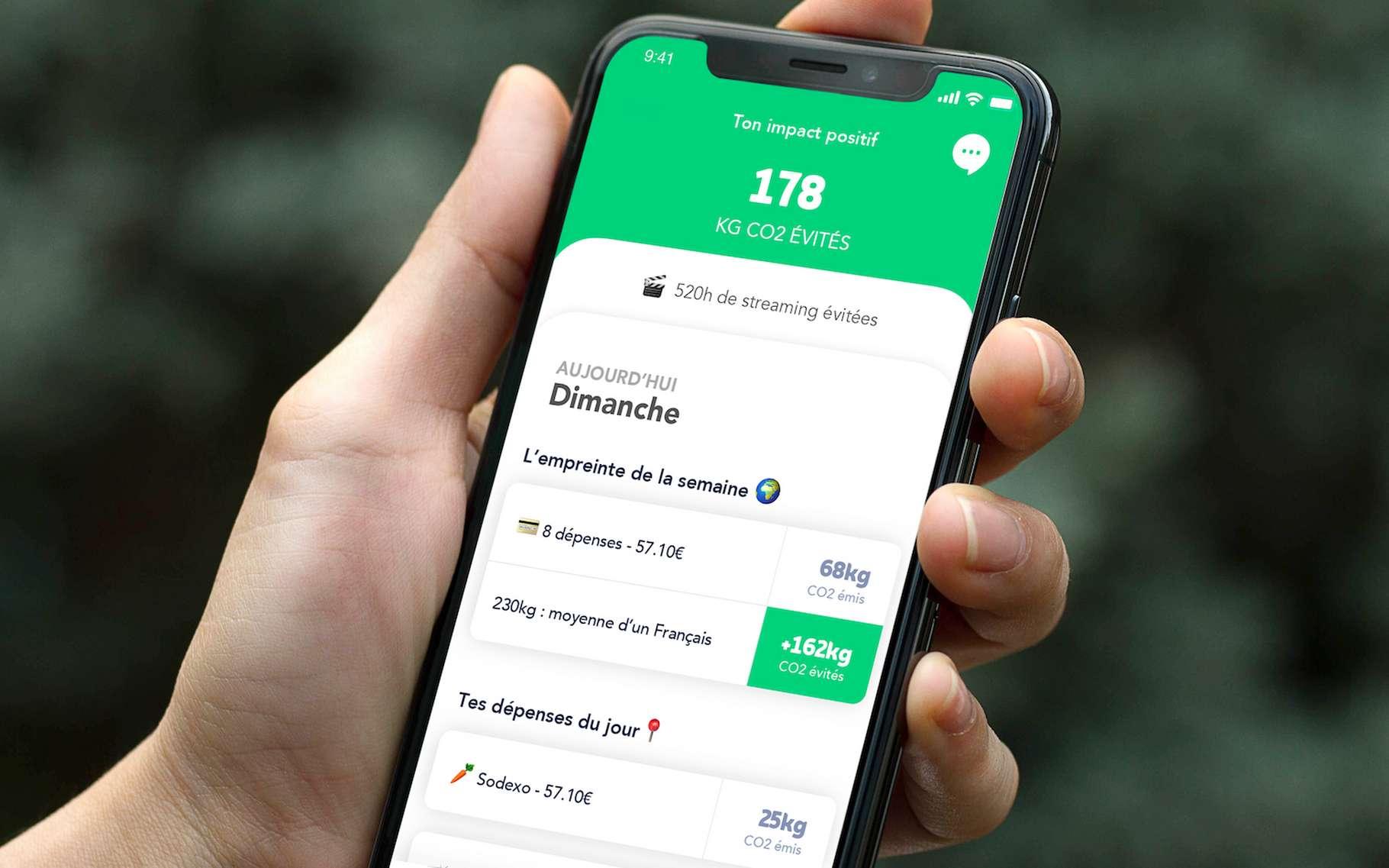 Greenly est une nouvelle application qui calcule l'empreinte carbone de nos achats et nous donne des conseils pour nous aider à la réduire efficacement. © Greenly