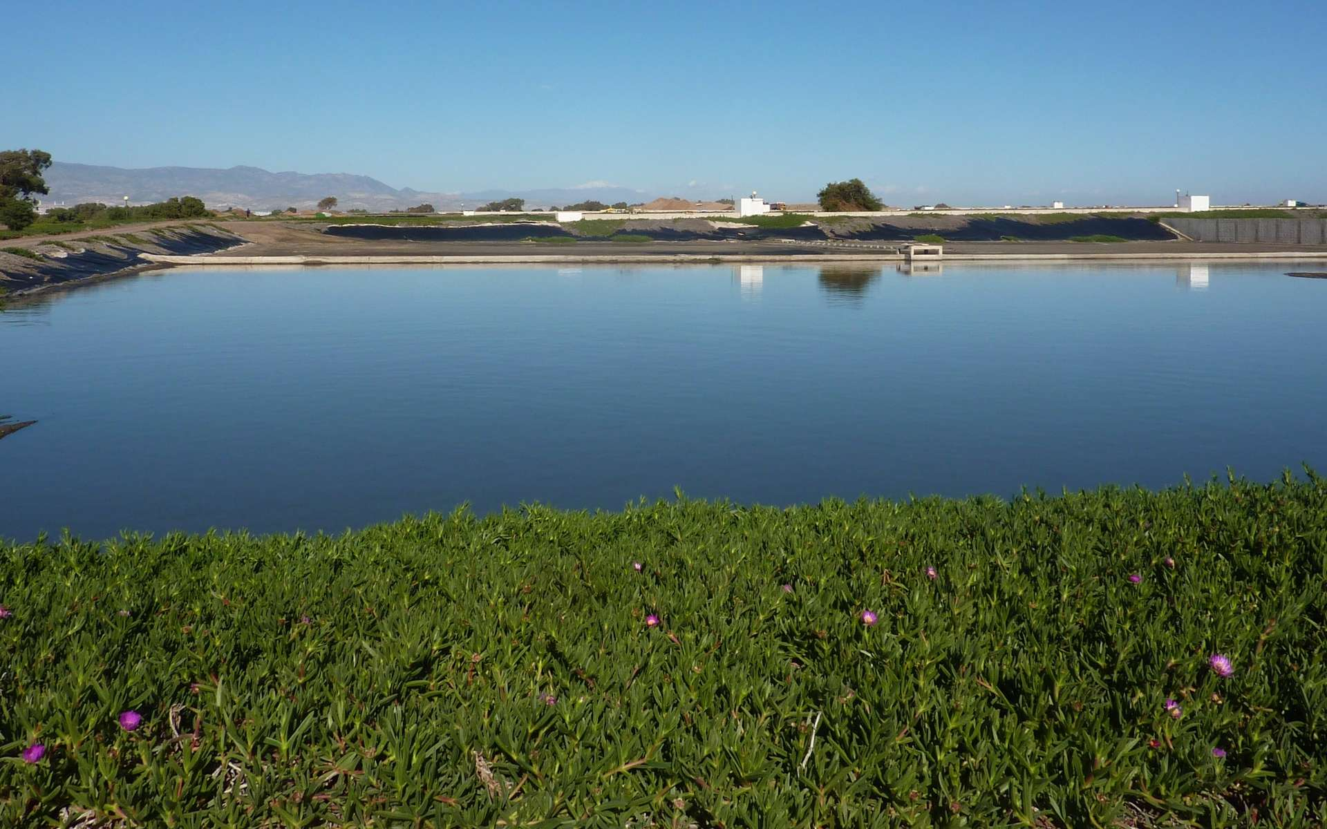 Traitement biologique des eaux usées. Bassin de lagunage de l'agglomération du Grand Agadir. © Lydia Herrmann, Flickr, CC by 2.0
