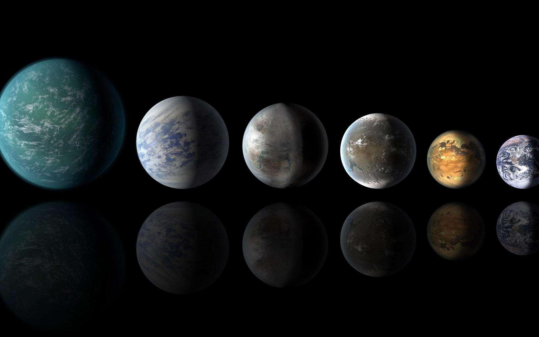 Un tiers des quelque 4.000 exoplanètes connues à ce jour seraient ce qu'on appelle des planètes-océans, des mondes où l'eau est présente dans une telle abondance qu'elle pourrait constituer jusqu'à la moitié de la masse totale de la planète. © Nasa