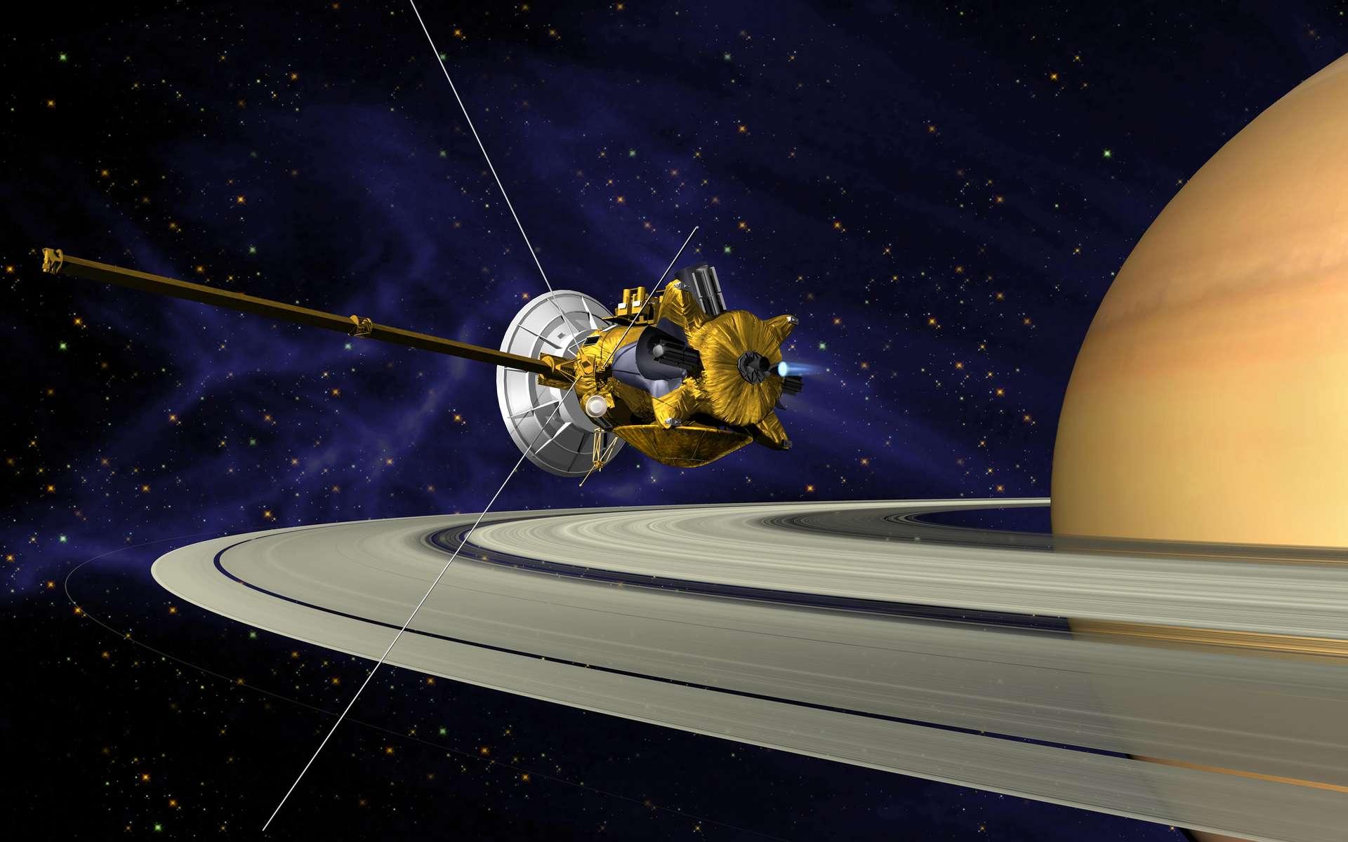 Exclusivité : la sonde Cassini se confie à Futura. © Nasa, JPL
