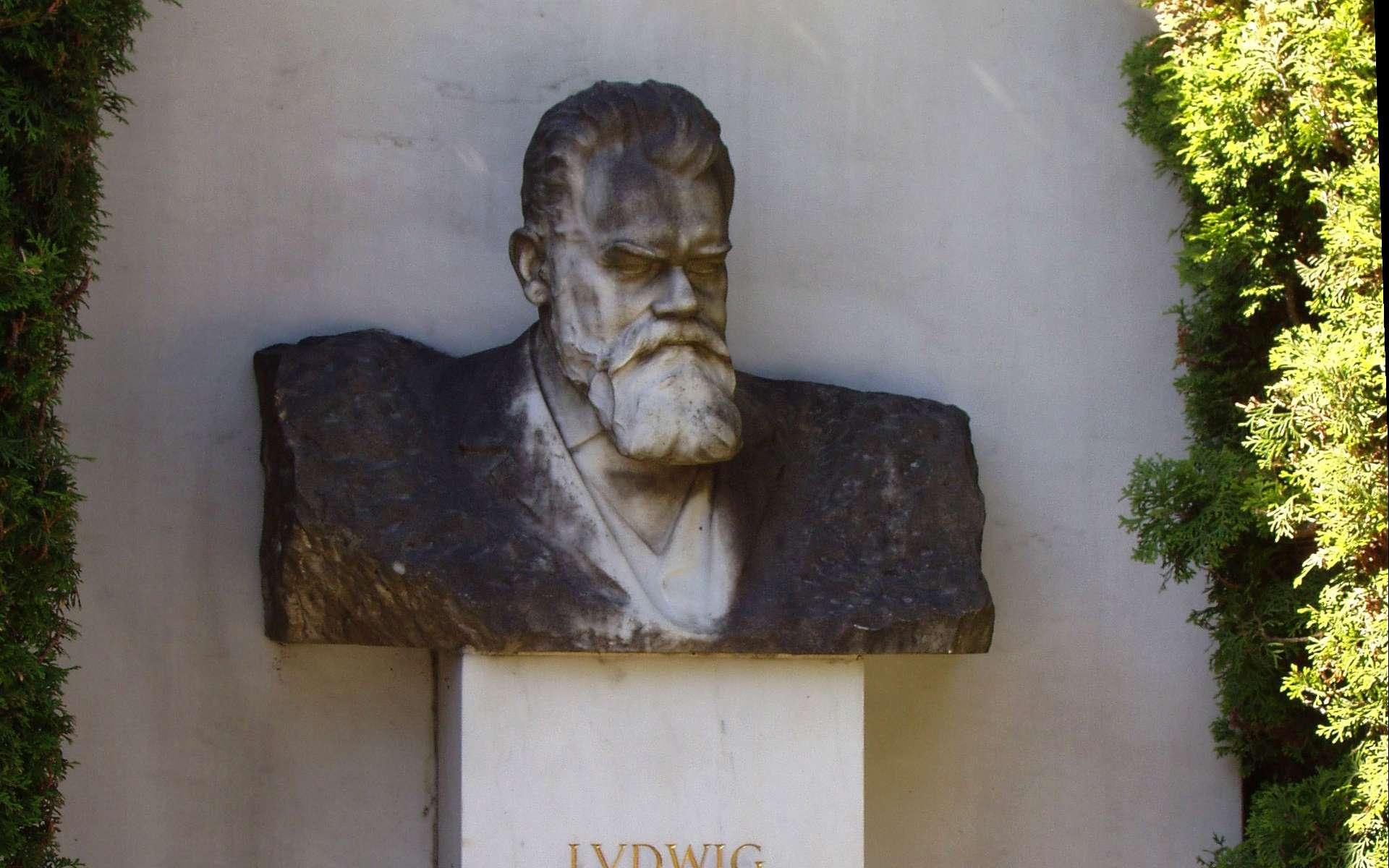 Sur la tombe de Ludwig Boltzmann figure, comme épitaphe, la formule qui a fait apparaître pour la première fois la constante qui porte son nom. © Daderot, Wikipédia, CC by-sa 3.0