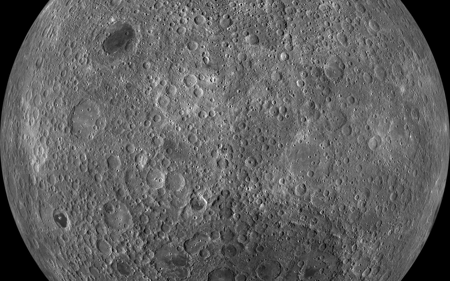 La Chine prévoit de visiter la face cachée de la Lune en 2018. Ici, une vue de la face cachée de la Lune prise par LRO. © Nasa