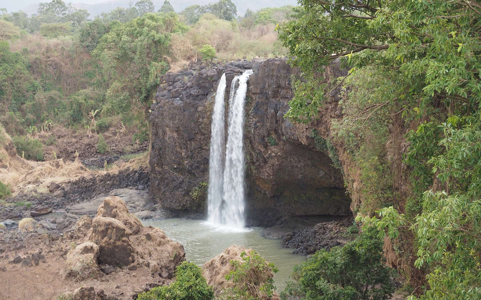 Chutes d'eau en Éthiopie, aux sources du Nil bleu. © vladislav333222, Adobe Stock