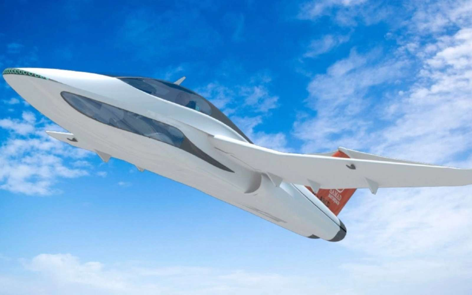 Inspiré de l'univers des voitures de luxe et des avions de chasse, le Q-Starling est un concept séduisant d'avion de tourisme. © Samad Aerospace
