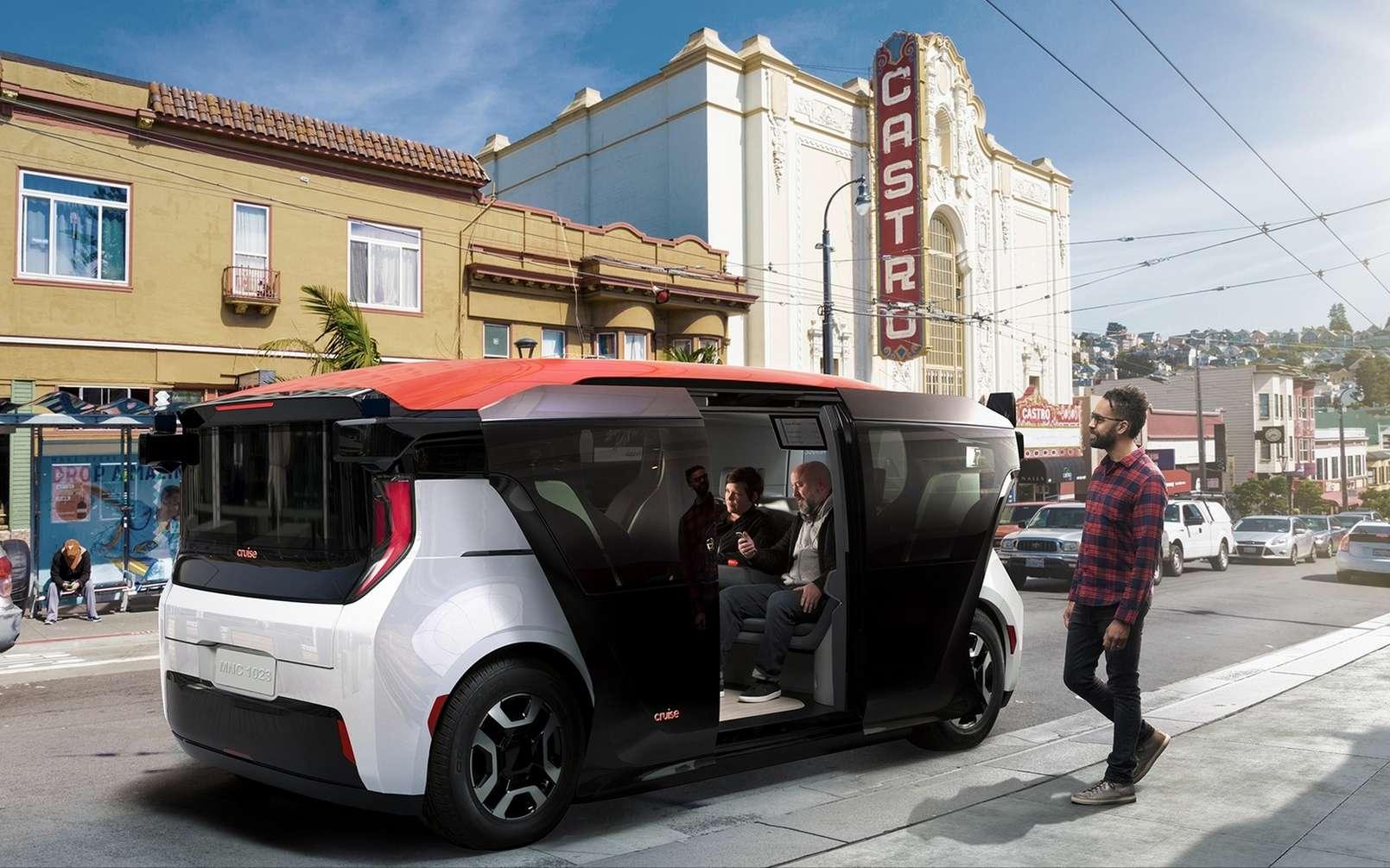 Le taxi autonome Cruise Origin ne possède ni pédales ni volant. © Cruise