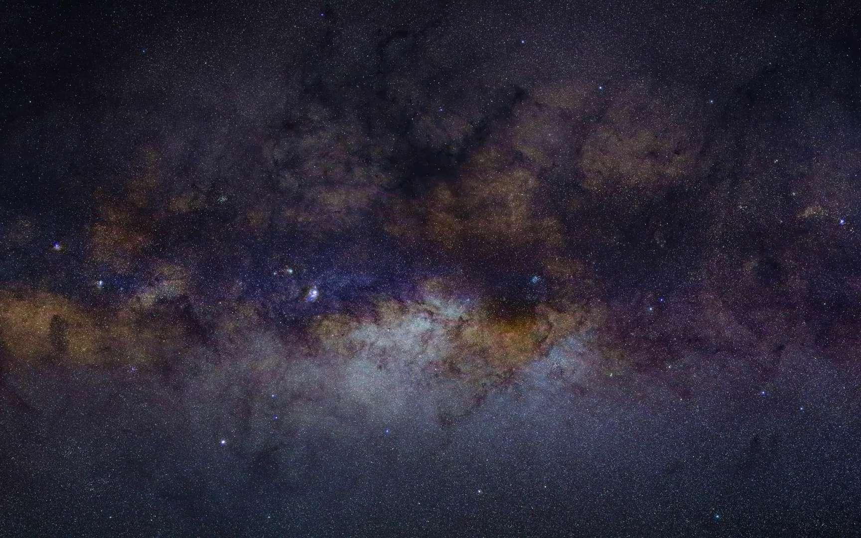 La Voie lactée ventrue photographiée de la banlieue de la Terre par le satellite Yangwang-1. © CNSA