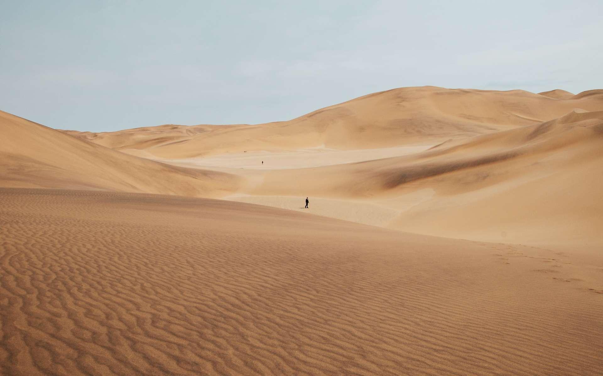 Le sable du désert est trop fin pour fabriquer du béton. © Keith Hardy, Unsplash
