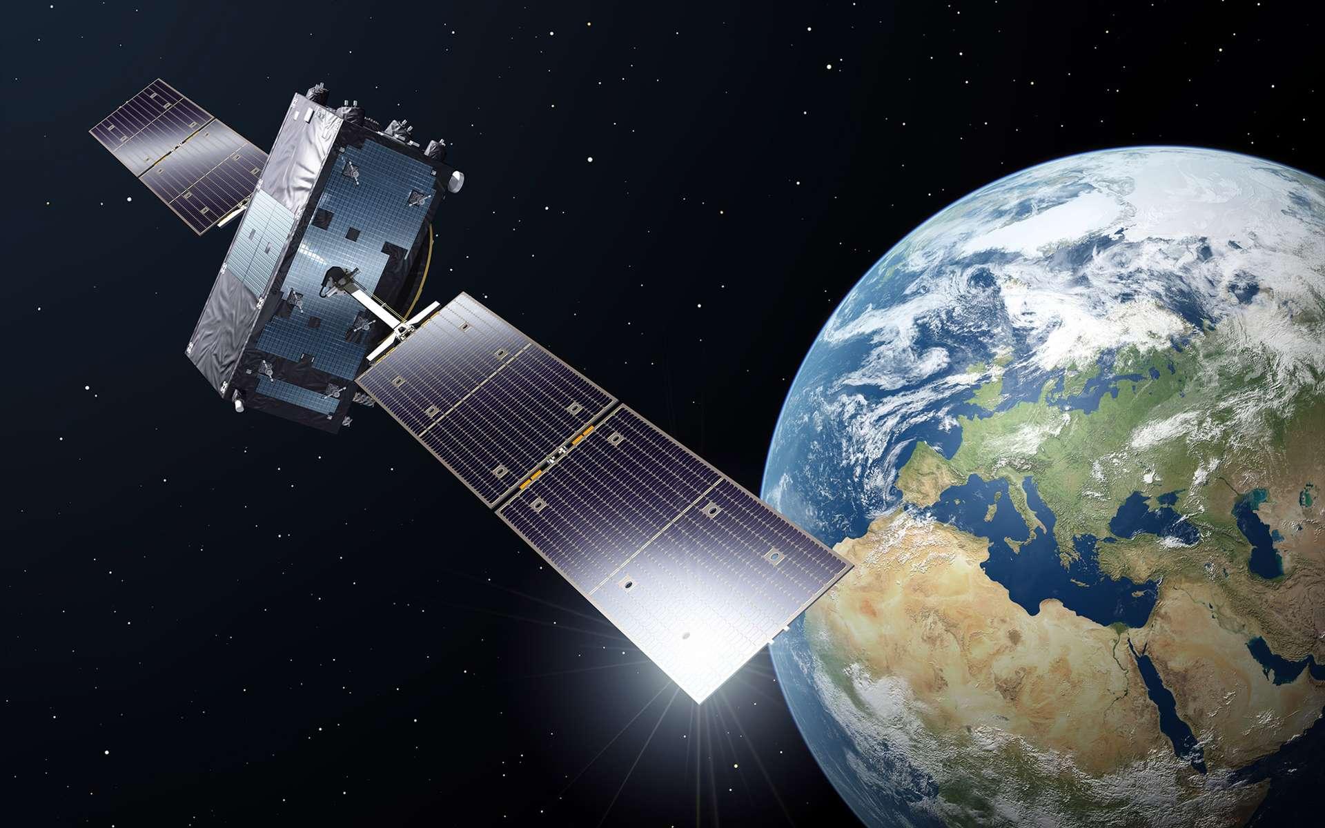 Qu'est-il donc arrivé aux horloges atomiques de la constellation Galileo ? Lorsque celle-ci sera pleinement opérationnelle, elle sera constituée de 30 satellites (dont 3 en réserve), répartis sur trois plans orbitaux inclinés de 56° par rapport au plan équatorial. Elle fournira alors une très grande variété de services, dont certains inédits. © ESA, P. Carril