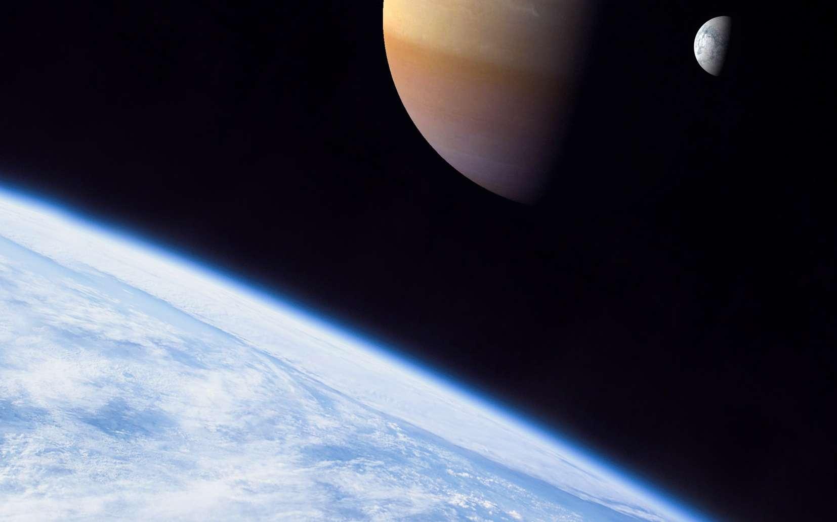 Une autre vue d'artiste montrant une exolune habitable. Crédit : Dan Durda