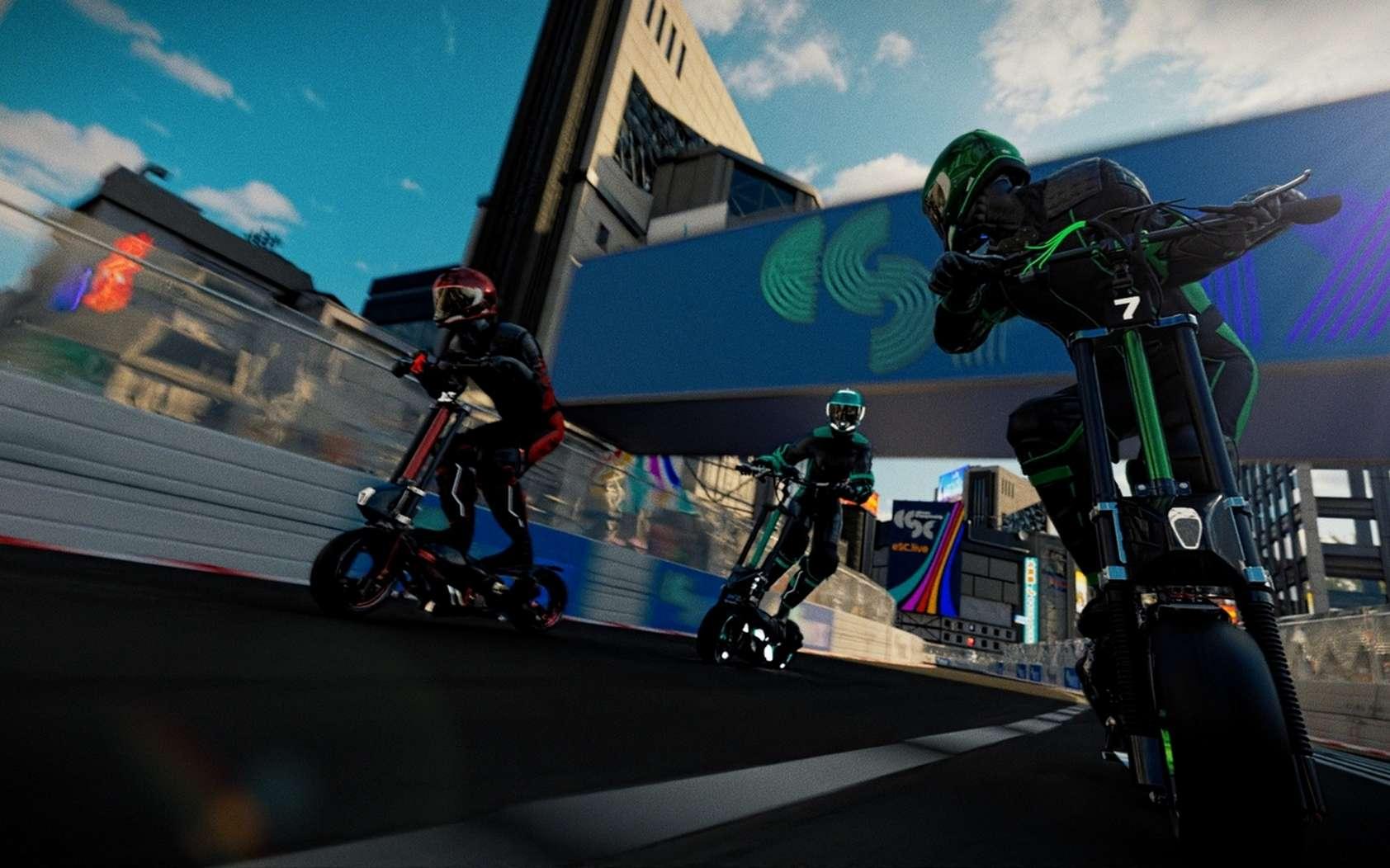 Les trottinettes électriques spécialement conçue pour ce championnat pourront foncer à 100 km/h.