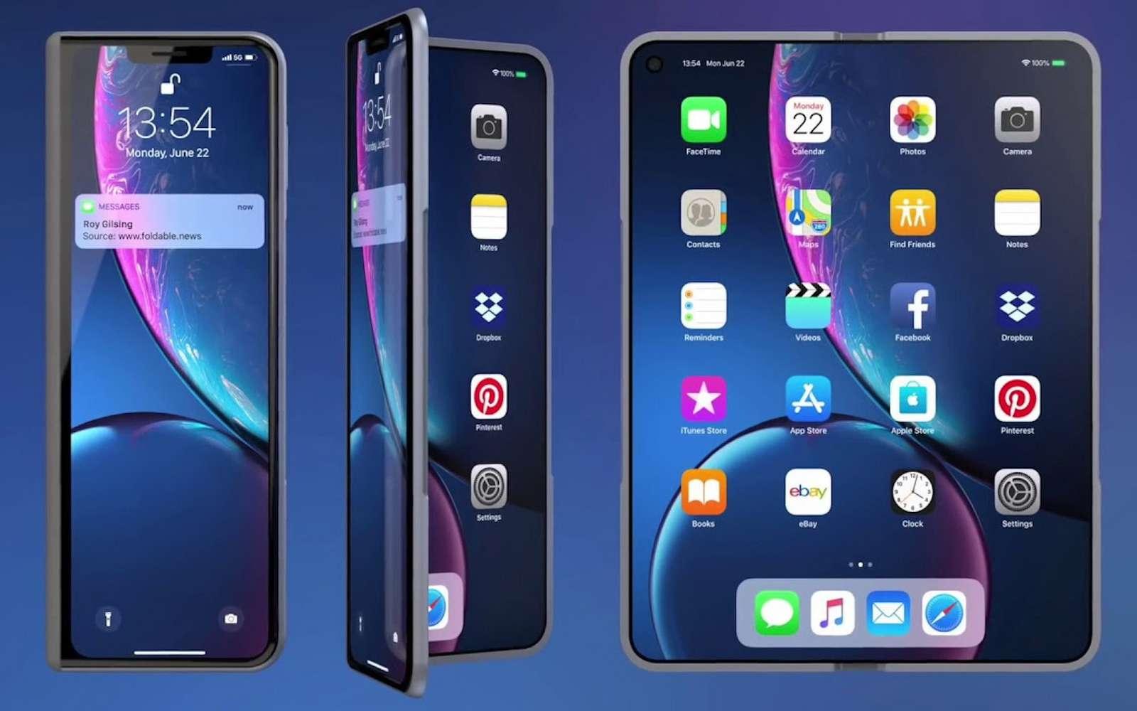 Après avoir observé la concurrence chinoise et coréenne, Apple va-t-il lancer un iPhone pliable ? © Foldablenews.com
