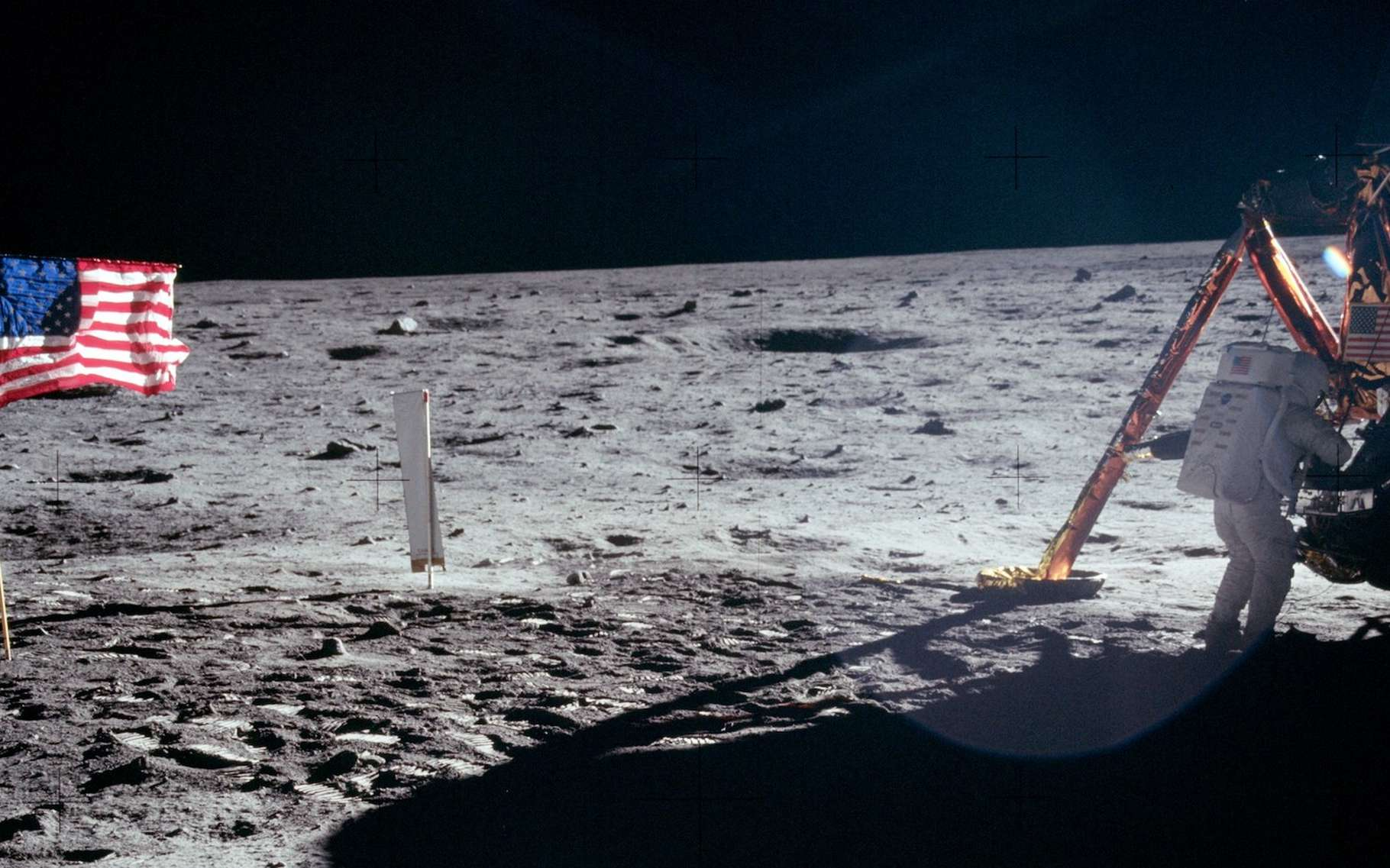 Il y a presque 50 ans, Neil Armstrong était le premier Homme à poser le pied sur la Lune. Donald Trump compte bien que le prochain soit lui aussi un Américain. © Nasa, domaine Public