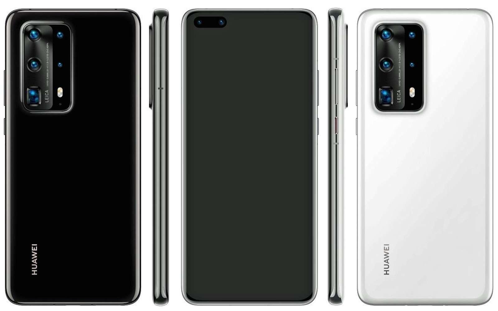 Cinq capteurs à l'arrière pour le remplaçant du P30 Pro, le meilleur photophone du marché. © Evan Blass