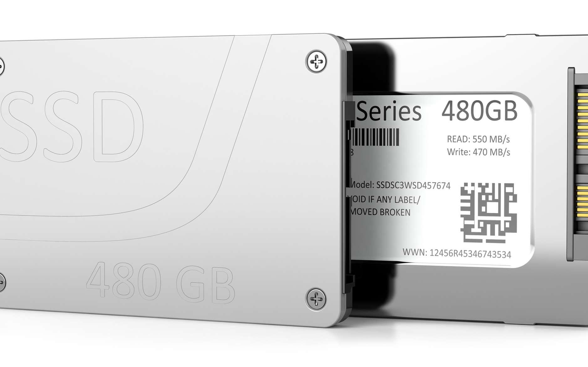 Le SSD offre des performances plus élevées qu'un disque dur tout en consommant moins d'énergie. Sa durée de vie est toutefois plus réduite. © P.S, fotolia
