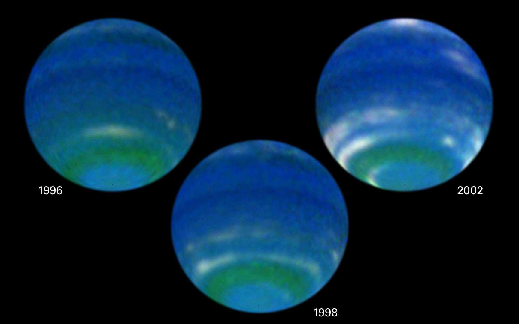 Neptune et Triton. Neptune et Triton prises ensemble par Voyager 2 (APOD 29/06/2001).