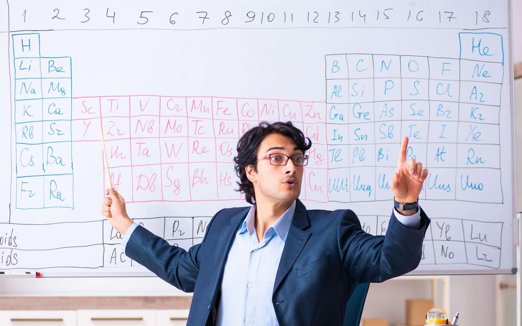 Pour les lycéens, apprendre le tableau périodique des éléments n'est pas toujours facile. © Elnur, Fotolia