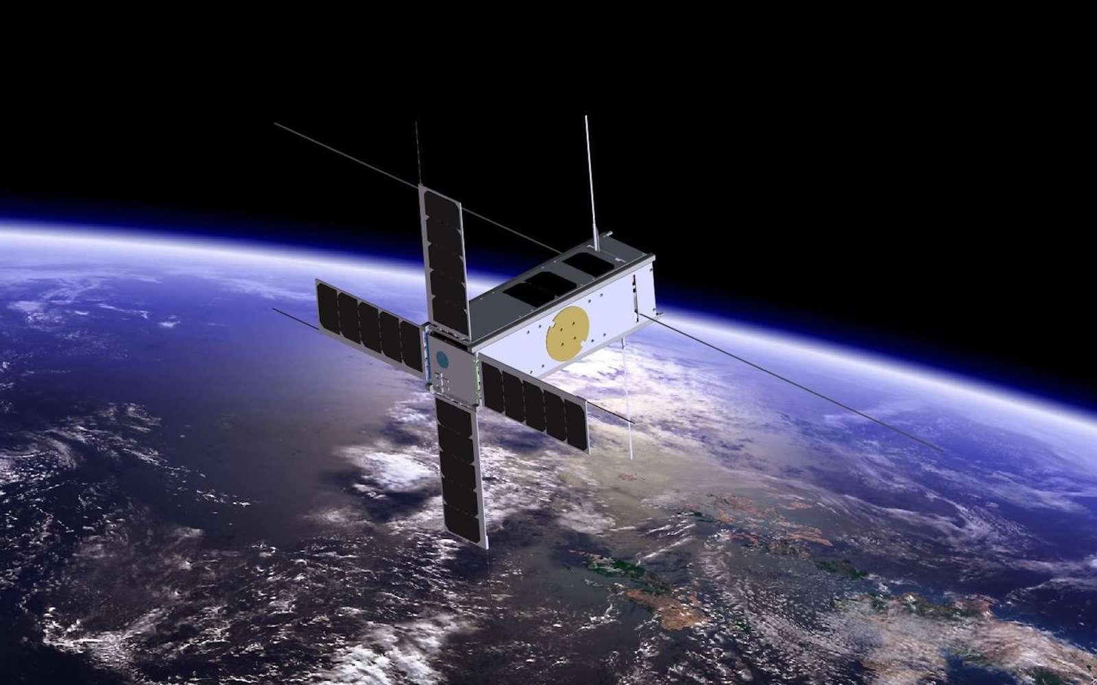 Une nouvelle technique pour mettre des satellites en orbite sans fusée. © BISA