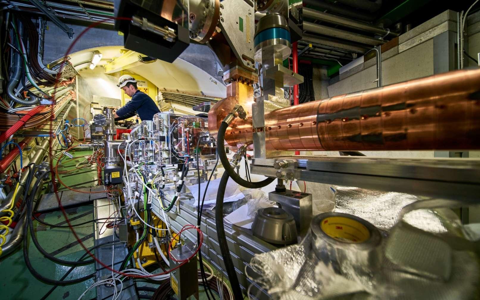 Une vue de l'expérience Awake au Cern. © Maximilien Brice/Julien Ordan/CERN
