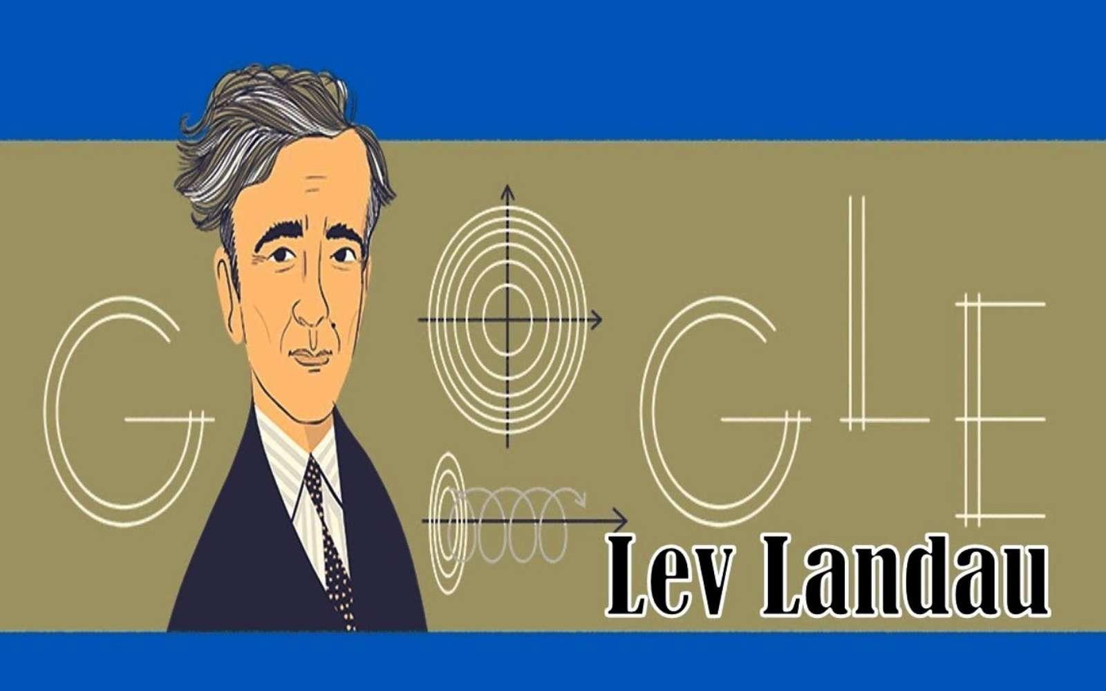 Le prix Nobel de physique Lev Landau dans le Google Doodle. © Google