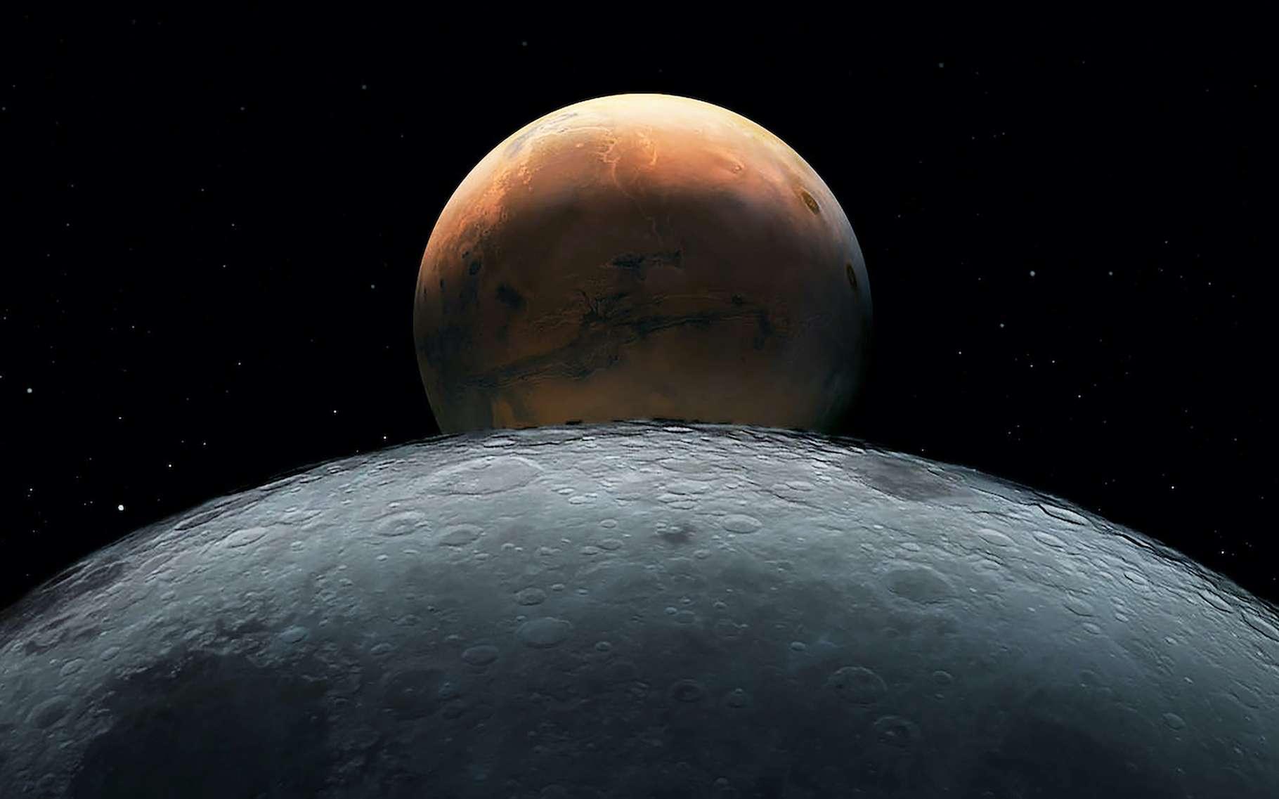En étudiant les astéroïdes troyens de Mars, des chercheurs de l'Observatoire d'Armagh (Irlande) ont découvert que l'un d'eux ressemble étrangement à la Lune. © Artsiom Petrushenka, Adobe Stock