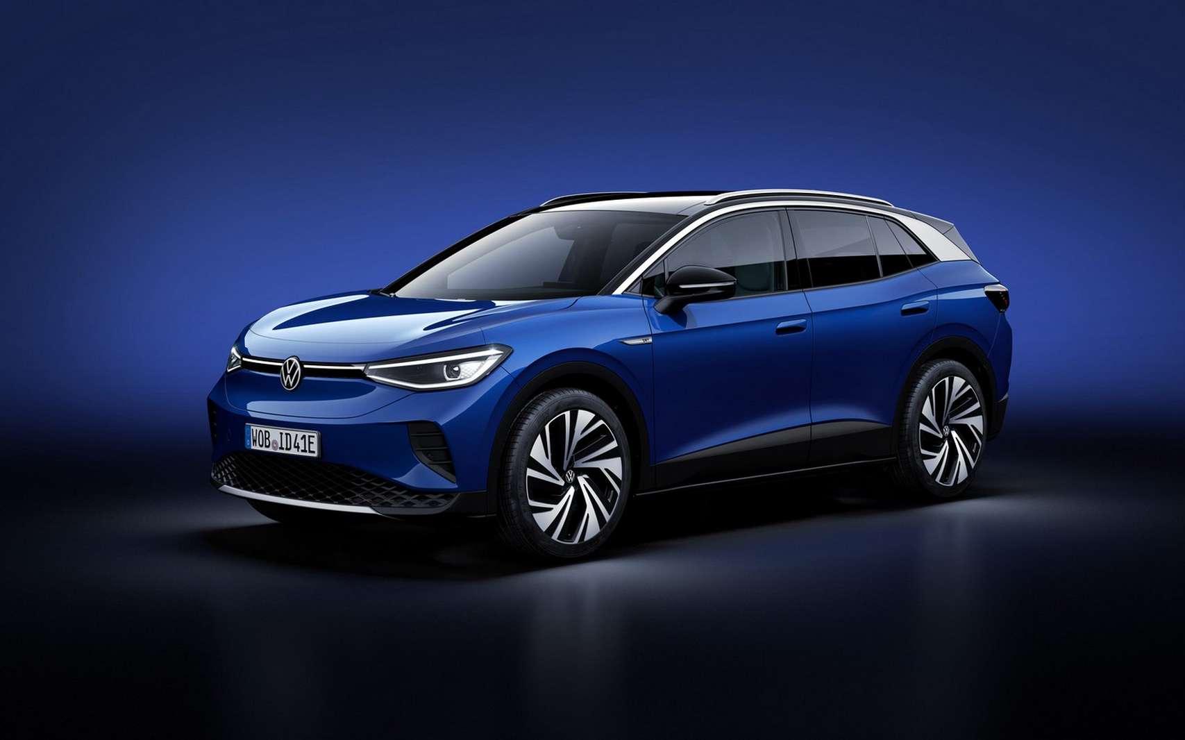 Le Volkswagen ID.4 se positionne sur le créneau des SUV électriques pour la famille. © Volkswagen