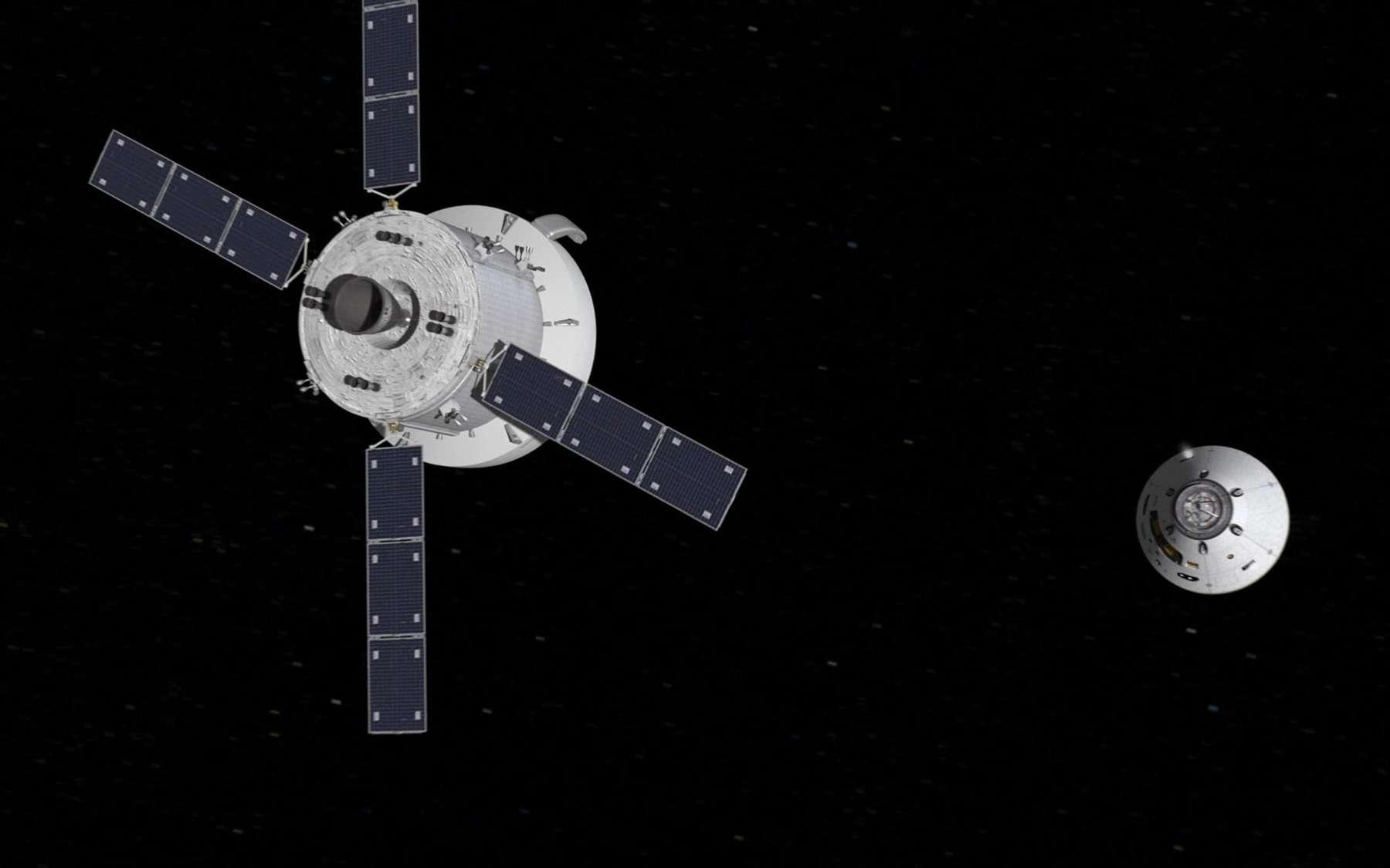 Le module de service d'Orion s'inspirera de celui de l'ATV (SSA, Spacecraft Sub-Assembly) dont Airbus DS avait la charge. © Nasa