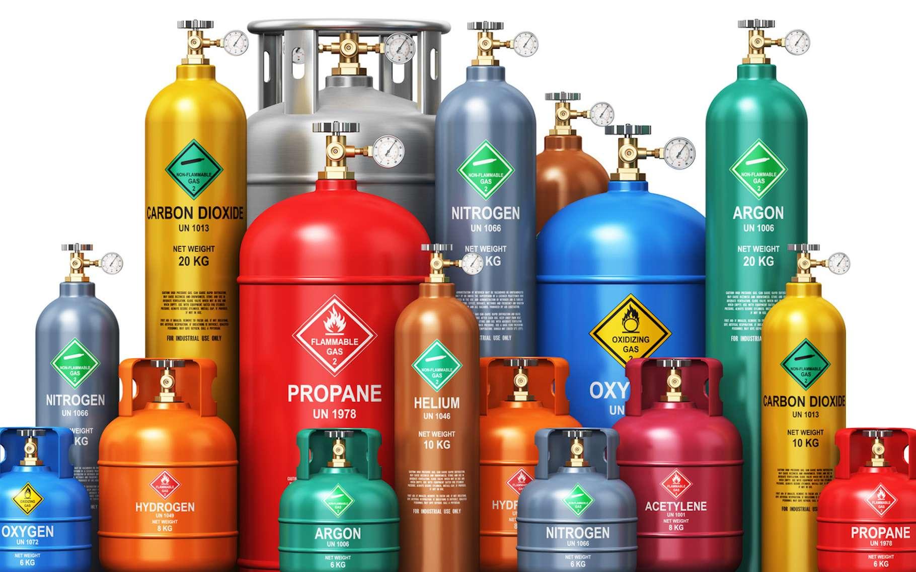 La loi d'Avogadro-Ampère affirme que dans des conditions de température et de pression définies, des volumes égaux de gaz différents comportent le même nombre de molécules. © Scanrail, Fotolia