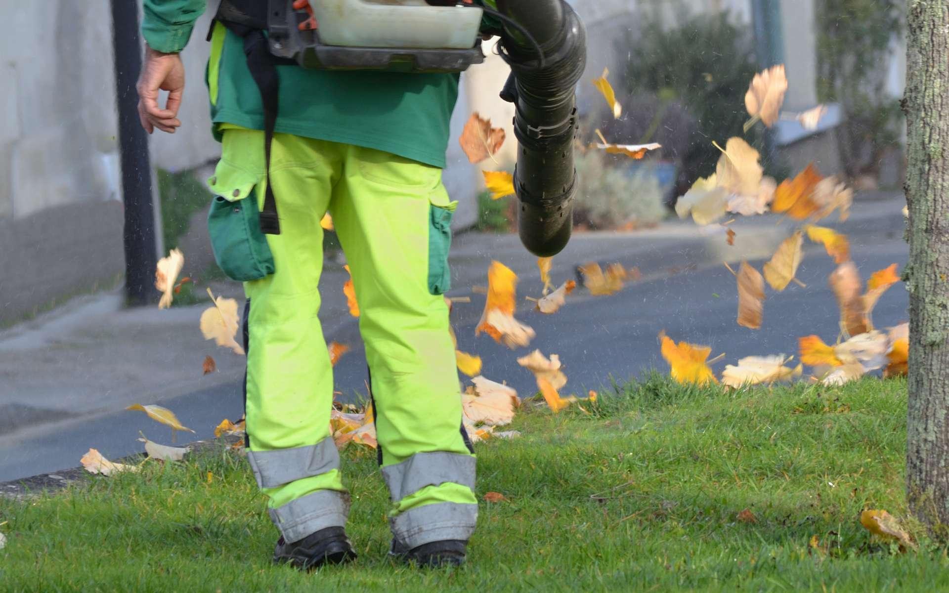 L'usage d'un souffleur se fait avec précautions. © graphlight, Adobe Stock