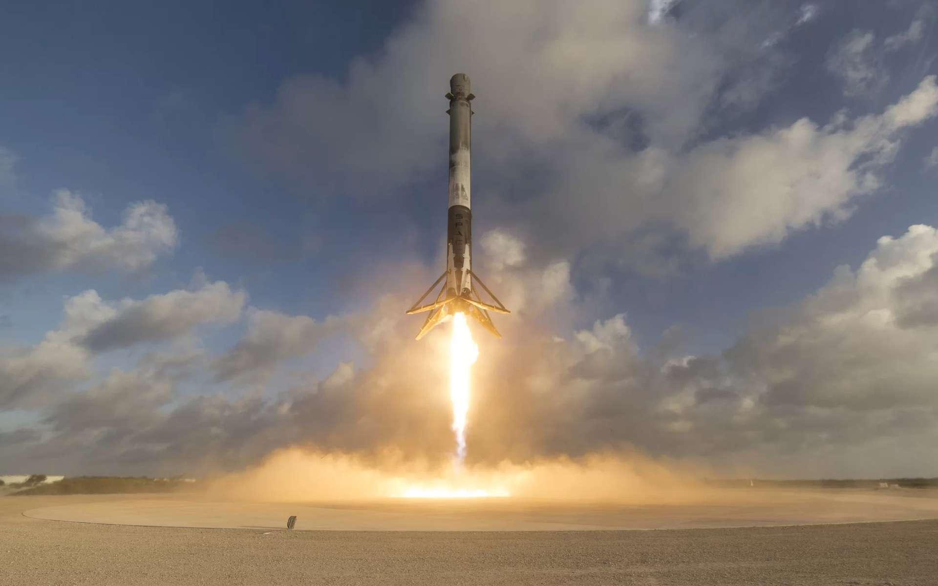 Depuis la base de Vandenberg, un lanceur Falcon 9 décolle avec à son bord 10 satellites Iridium Next. © SpaceX