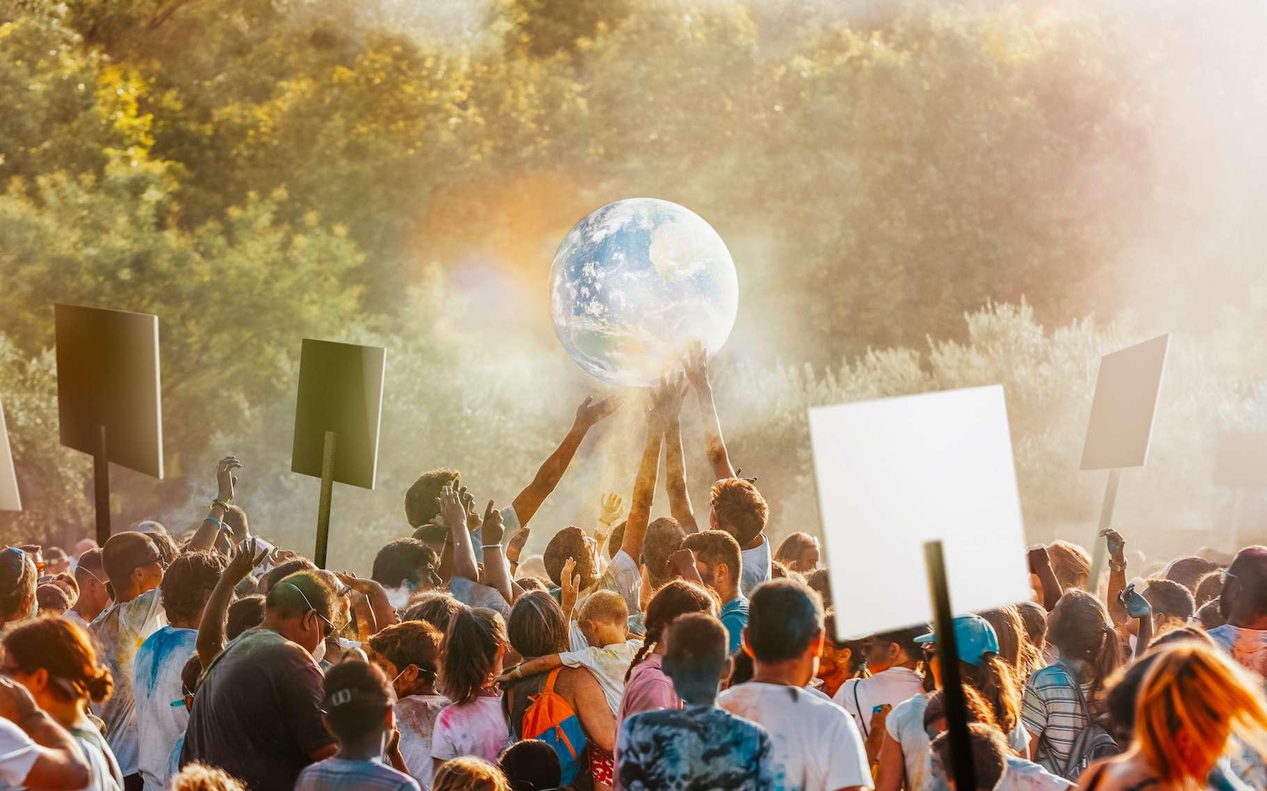 En exigeant une production d'électricité plus verte ou des biens et des services plus durables ou encore en éduquant nos enfants à la responsabilité environnementale, nous avons tous un rôle à jouer pour limiter le réchauffement climatique. © OSORIOartist, Adobe Stock