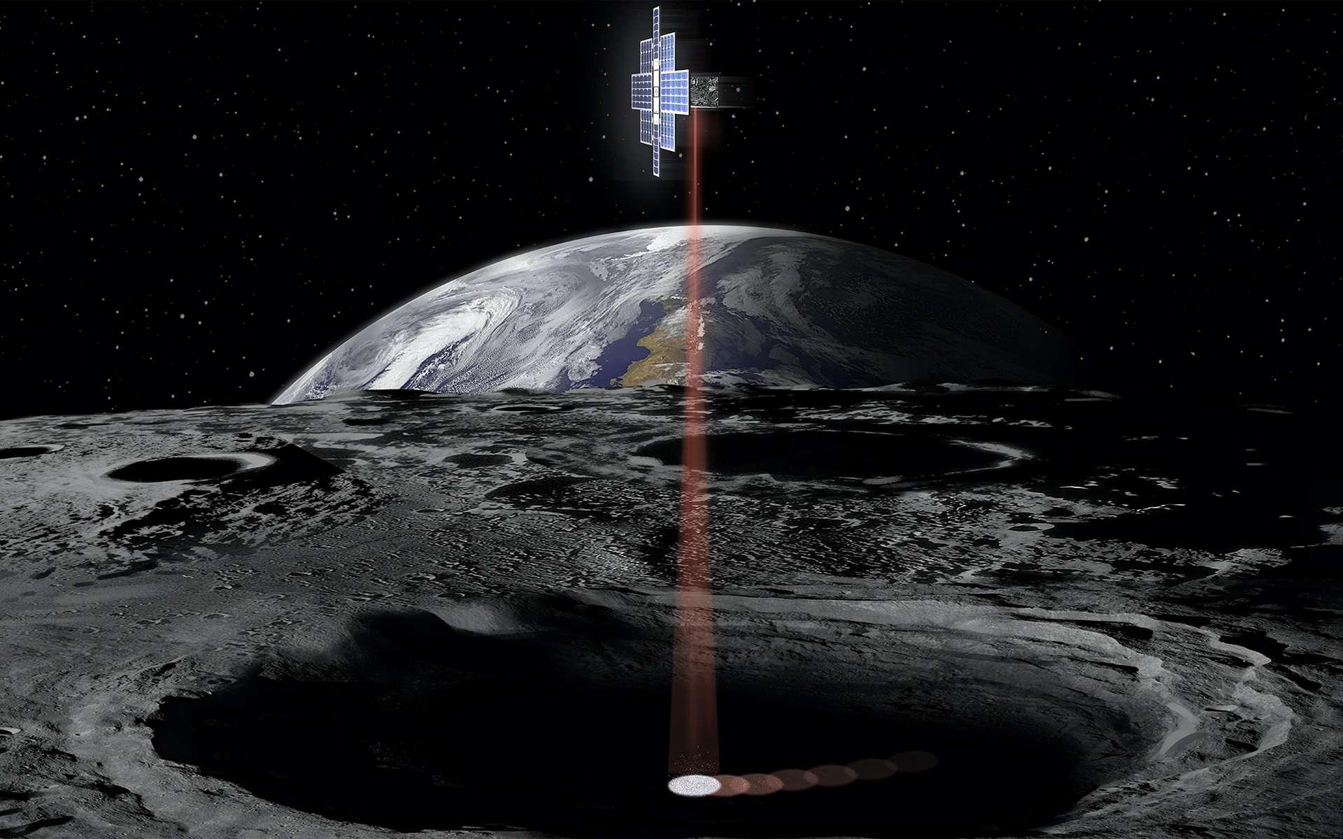 Lunar Flashlight, un CubeSat conçu pour recenser les dépôts de glace d'eau au fond des cratères lunaires. Son lancement est prévu en 2021. © Nasa, JPL