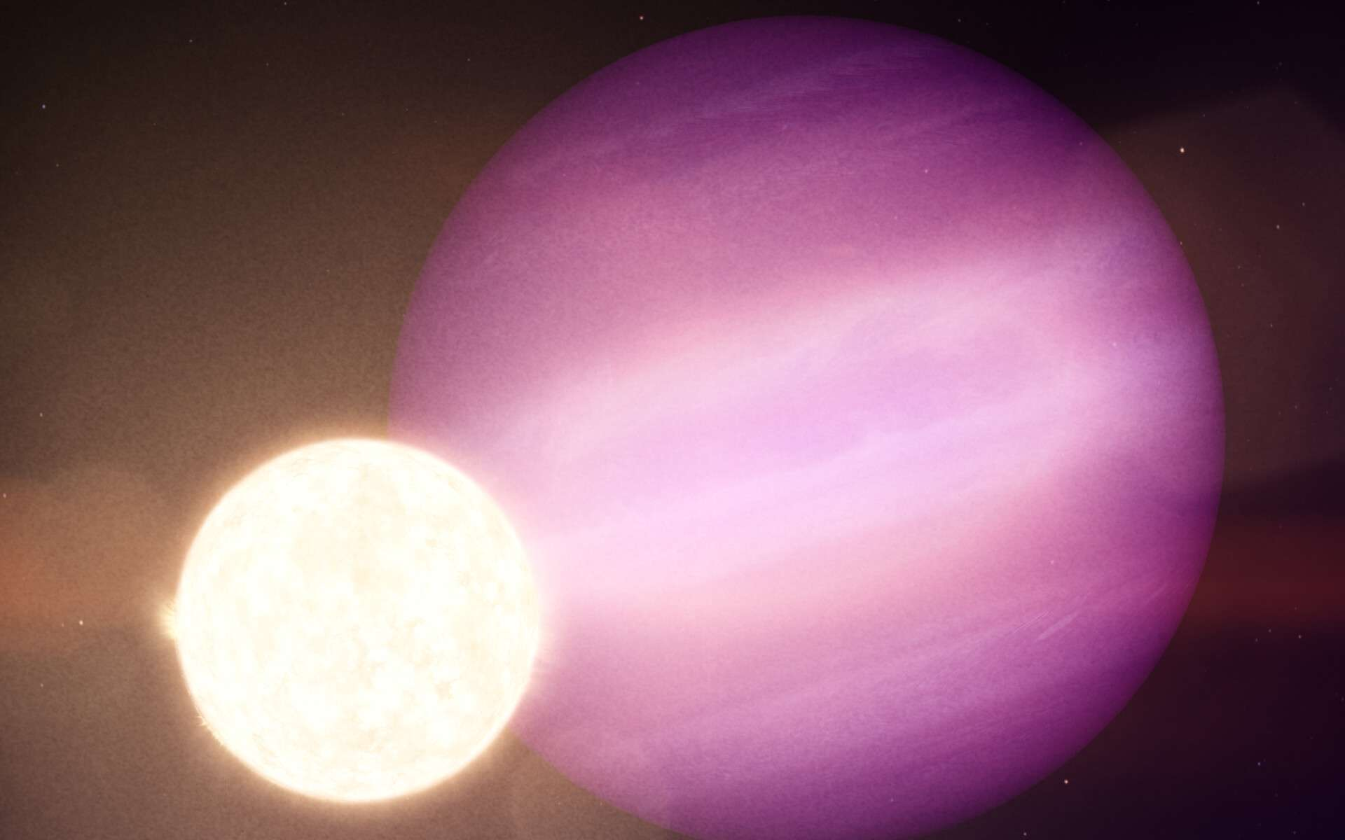 Dans cette illustration, WD 1856b, une planète géante, tourne autour de son étoile naine blanche tous les jours et demi. © Nasa's Goddard Space Flight Center