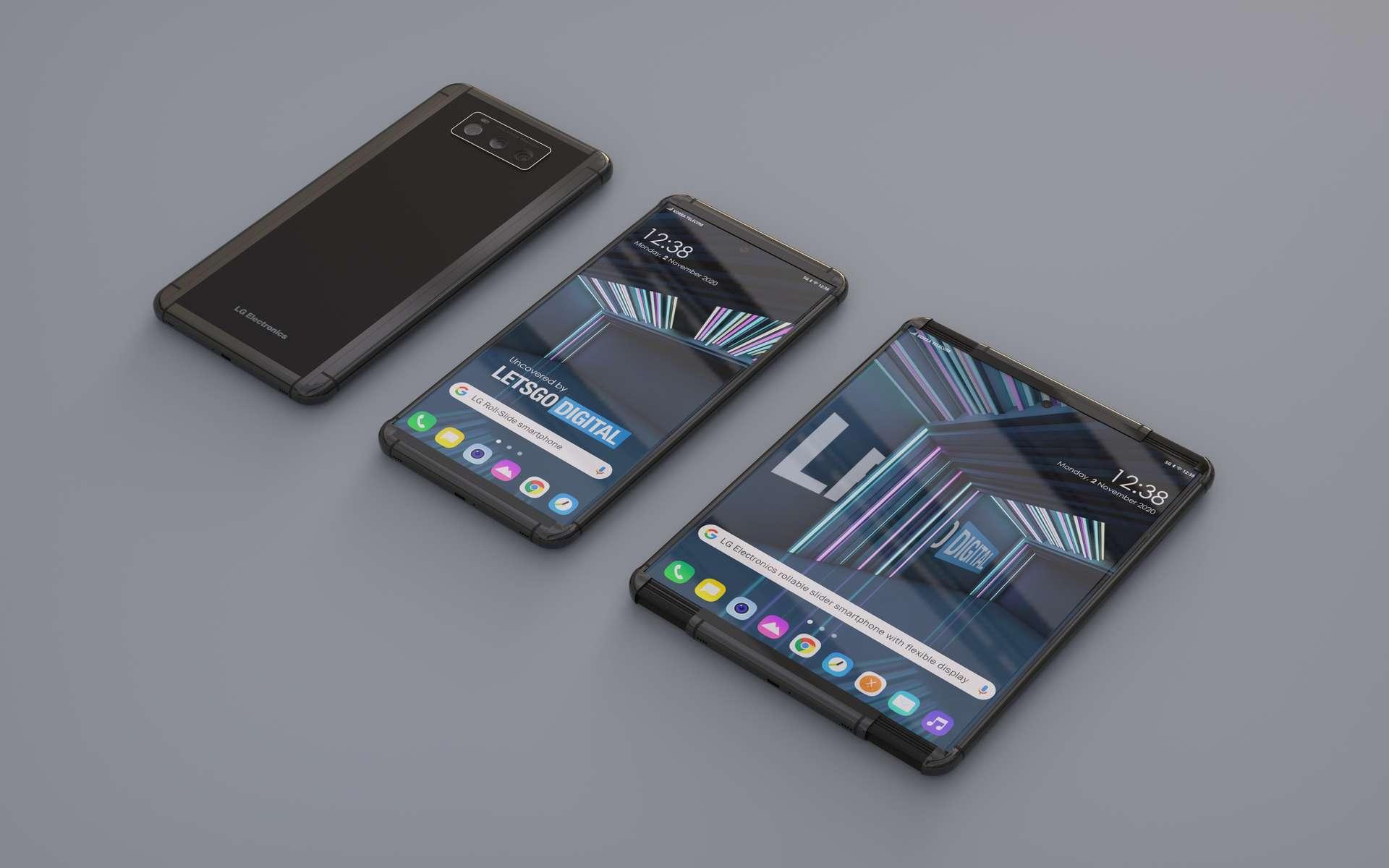 LG Rollable, c'est le nom choisi pour ce premier smartphone à écran extensible. © LG