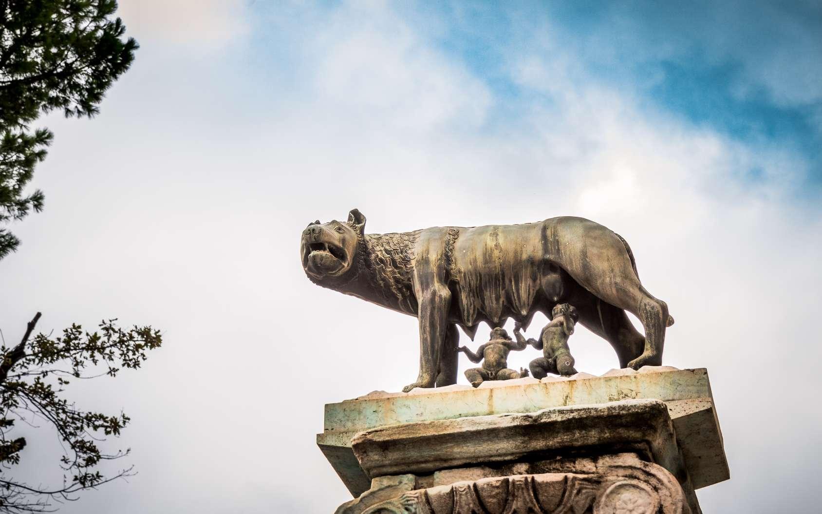 Statue de la louve nourrissant Romulus et Rémus, personnages clés de la fondation de Rome, selon la légende. © MangAllyPop@ER, Fotolia