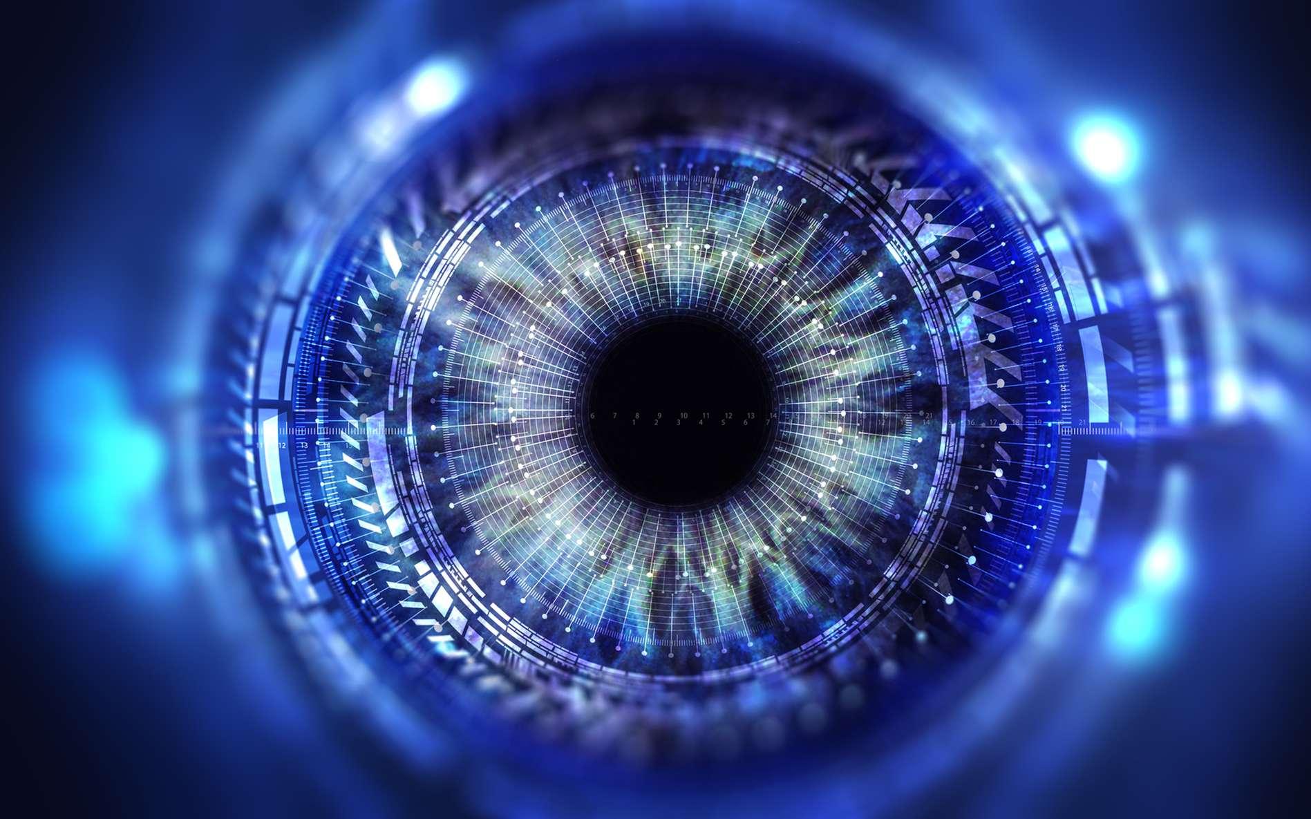 Le scanner d'iris est considéré comme l'un des systèmes biométriques les plus fiables. © spainter_vfx