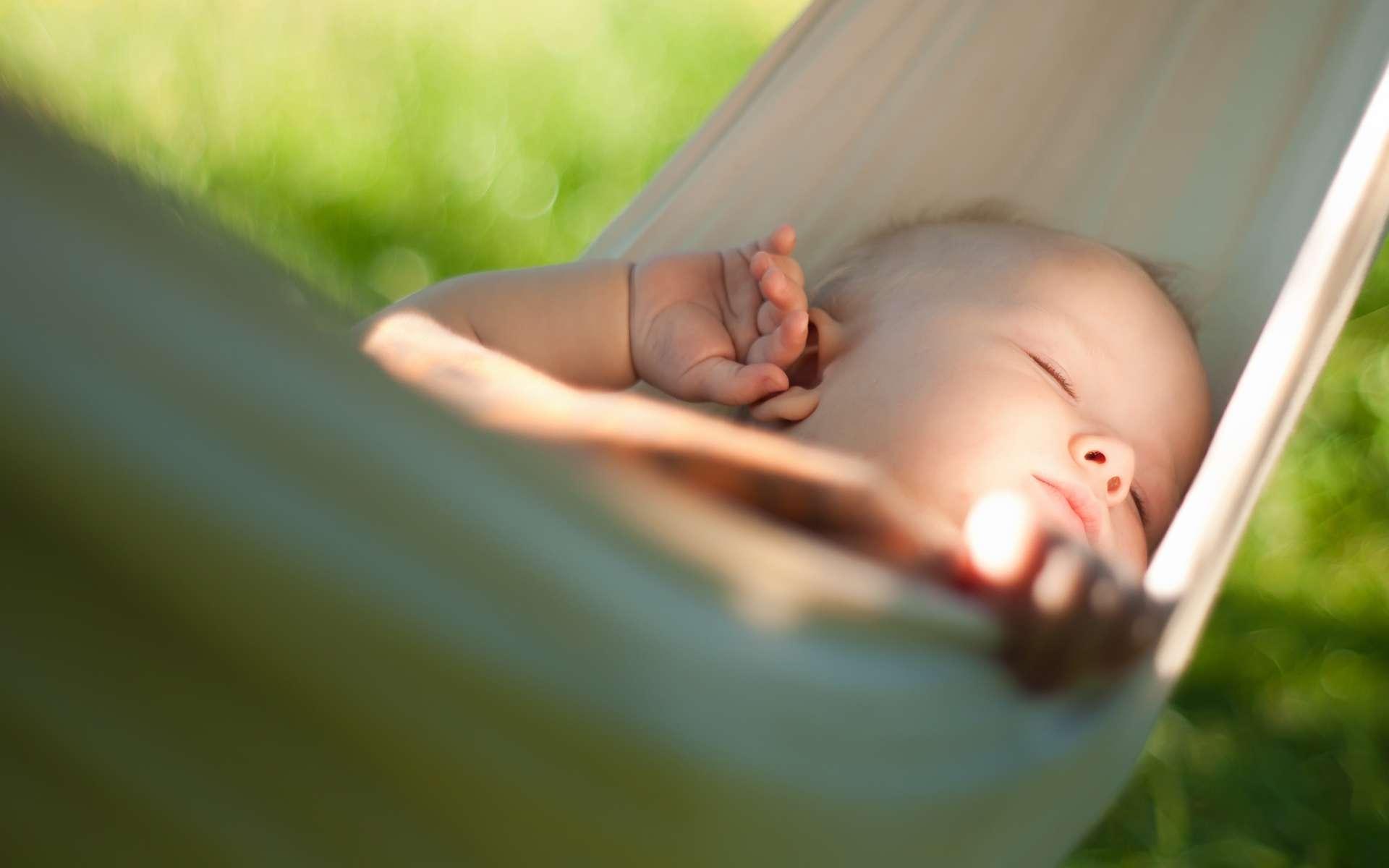 Un bébé dormant dans un hamac un après midi d'été © Adobe stock/Joshhh