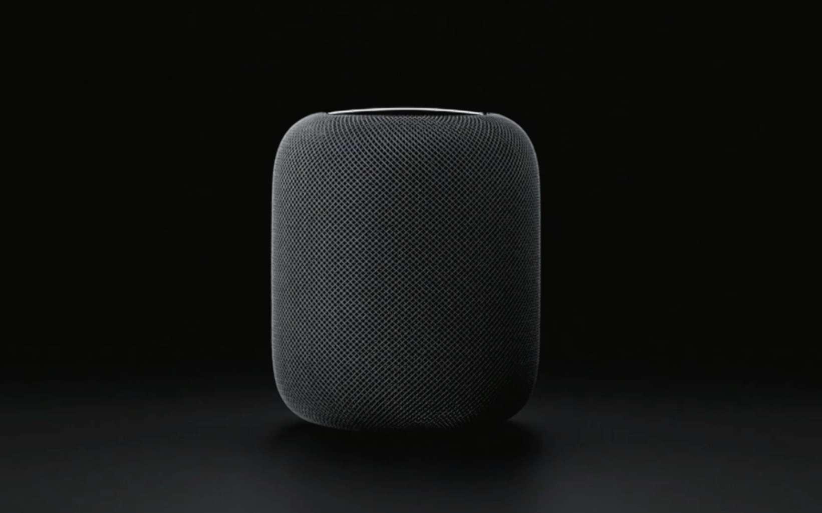 Avec HomePod, Apple a voulu se rapprocher d'un design renvoyant à l'univers de la hi-fi plus qu'à celui du gadget électronique. © Apple