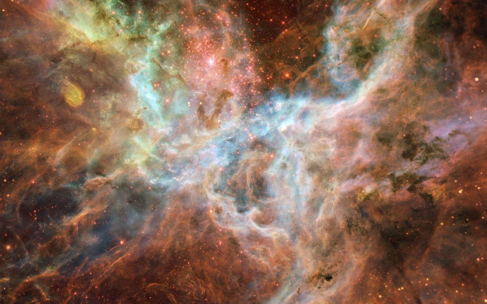 La nébuleuse de la Tarentule vue par Hubble. © Nasa