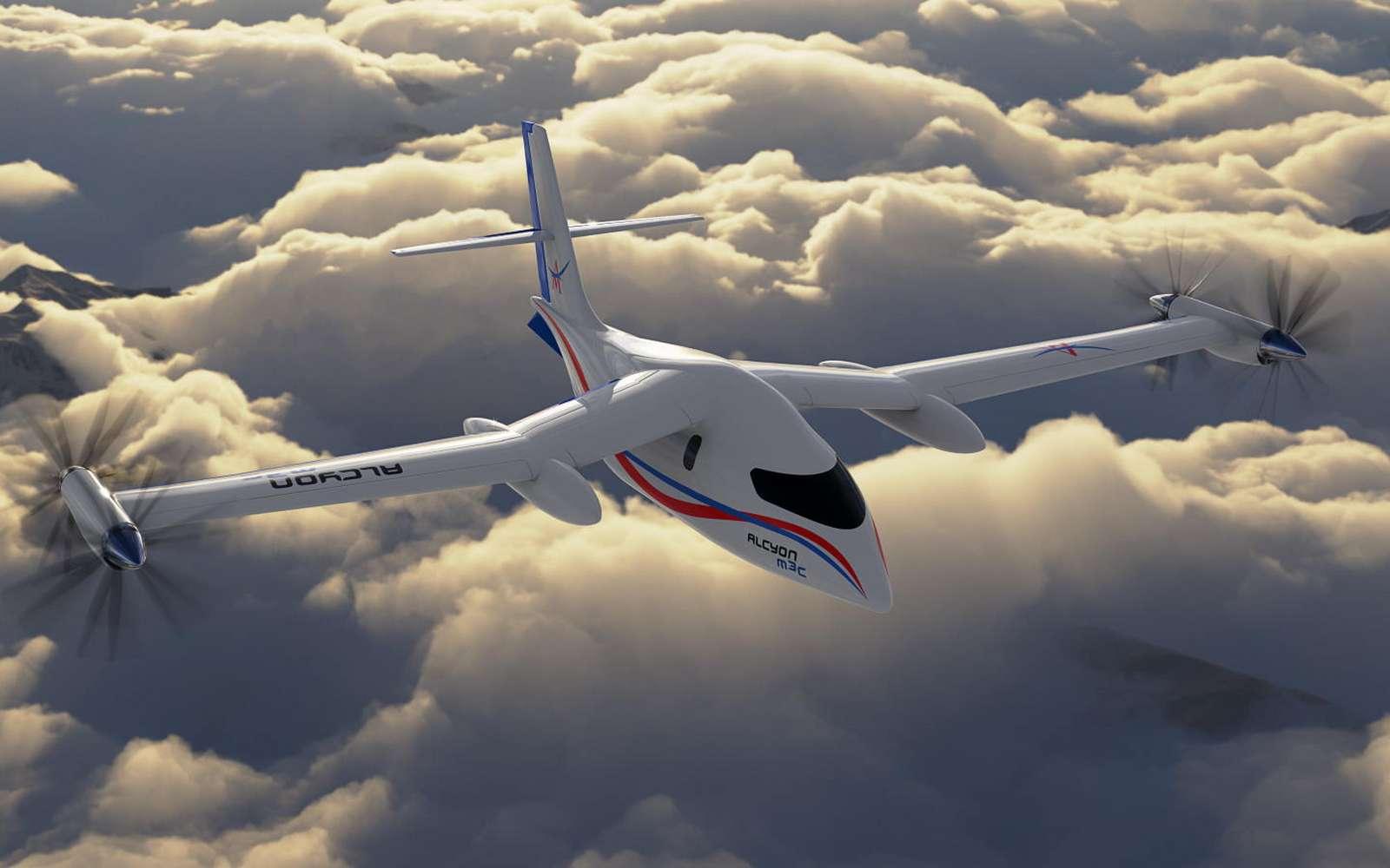 L'Alcyon M3c sera un avion régional doté d'une propulsion hybride à l'hydrogène. © Avions Mauboussin