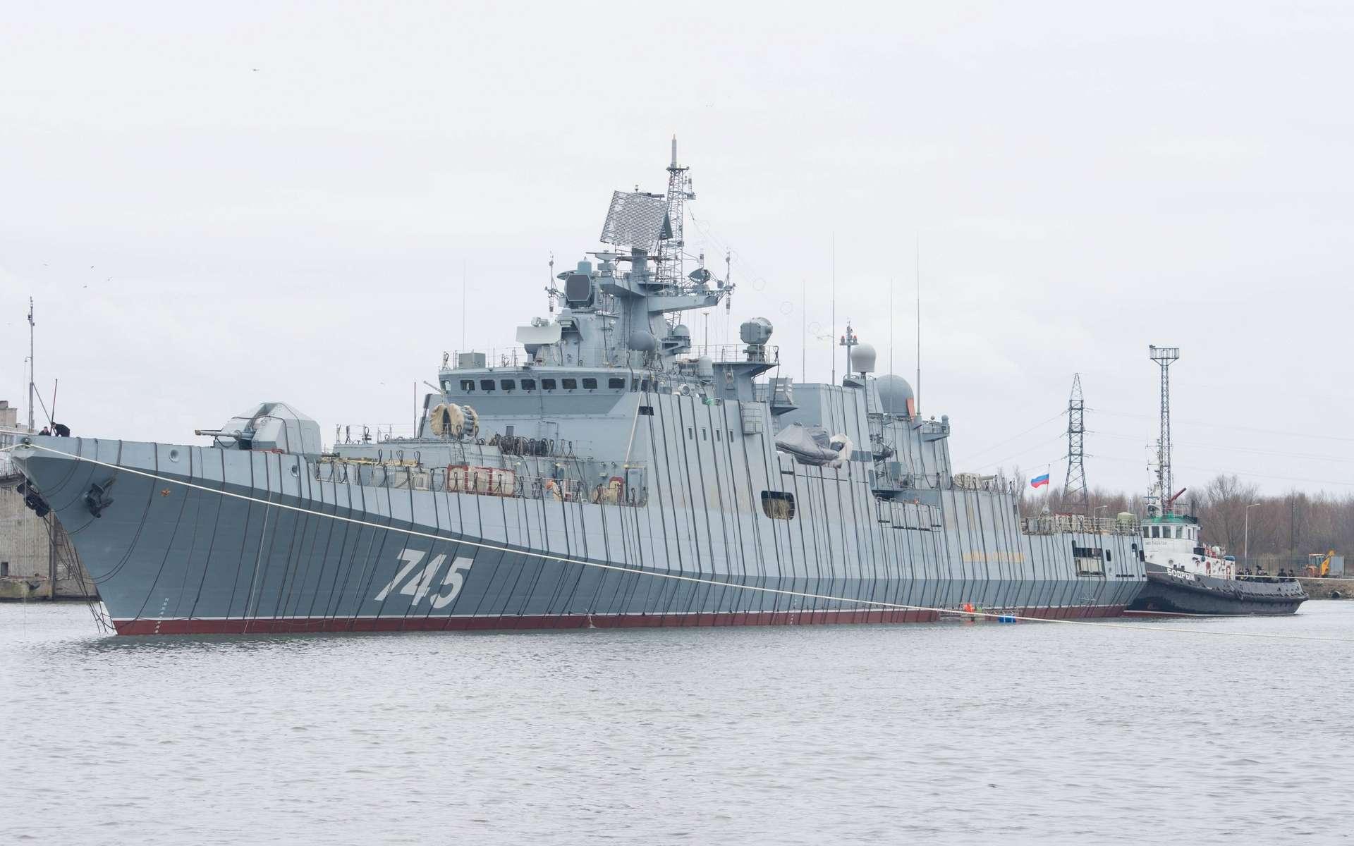 Le navire de guerre Admiral Gorshkov, sur laquelle sera embarquée le Filin 5P-42. © supremecommand, Reddit