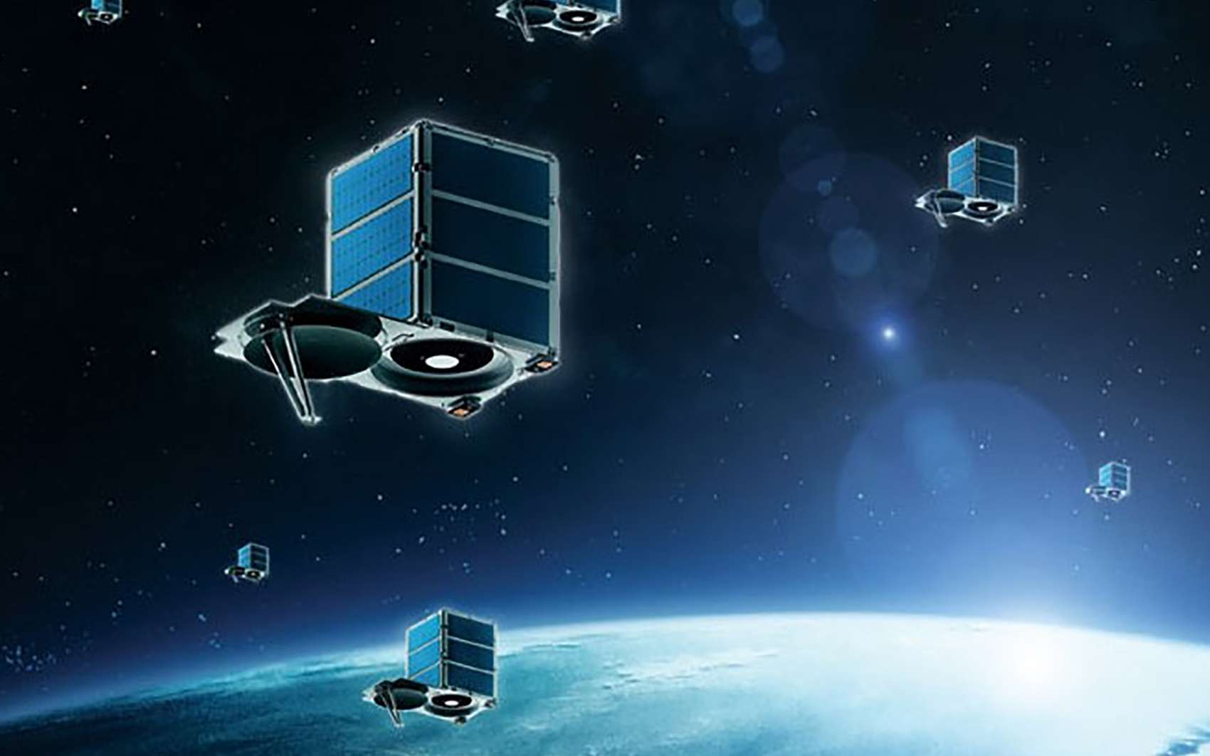 SkySat, une des familles de microsatellites qui composent la constellation Planet. © Terra Bella