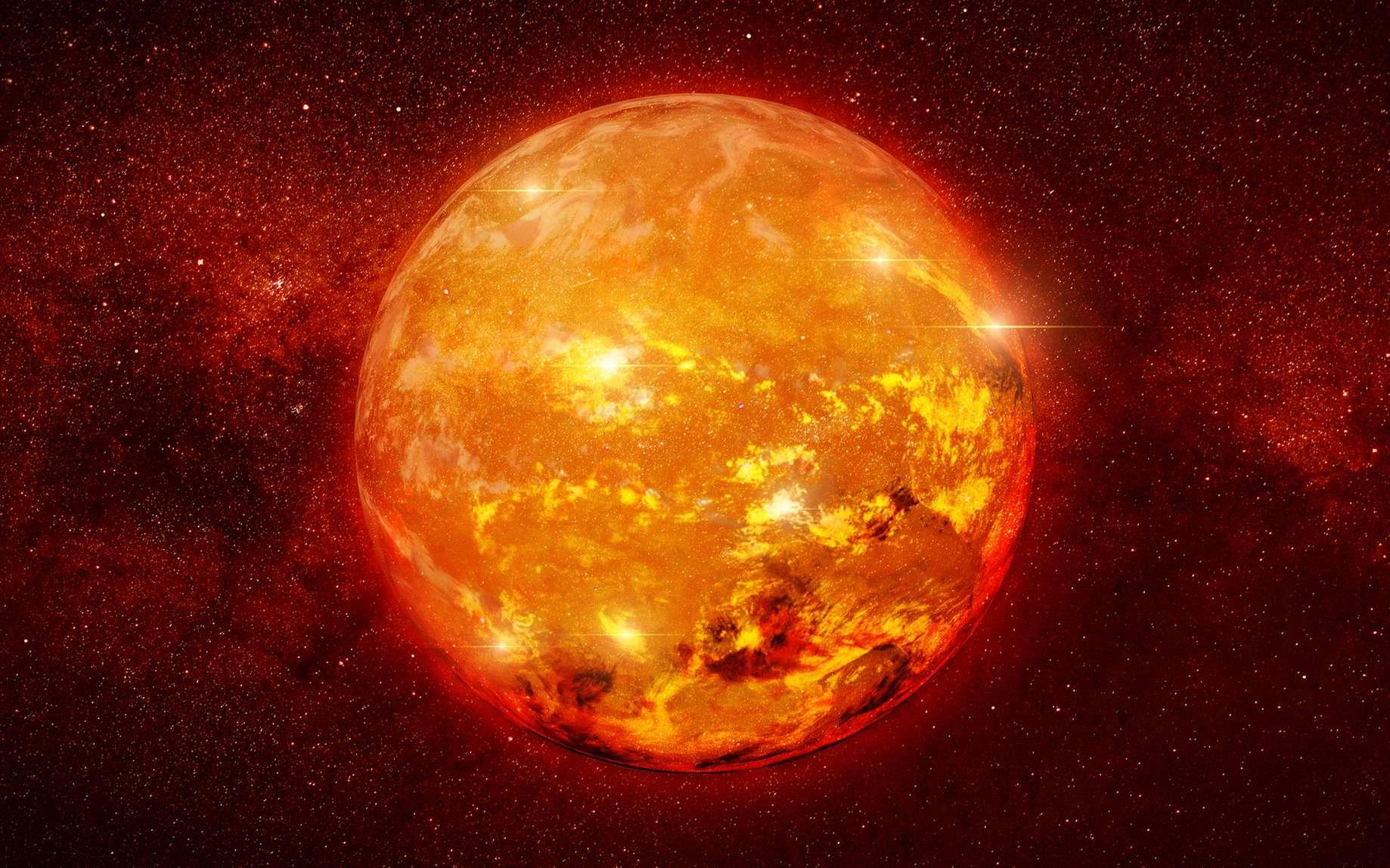 Quelle est la plus grande étoile connue dans l'univers ? Ici, illustration d'une étoile géante. © dottedyeti, fotolia