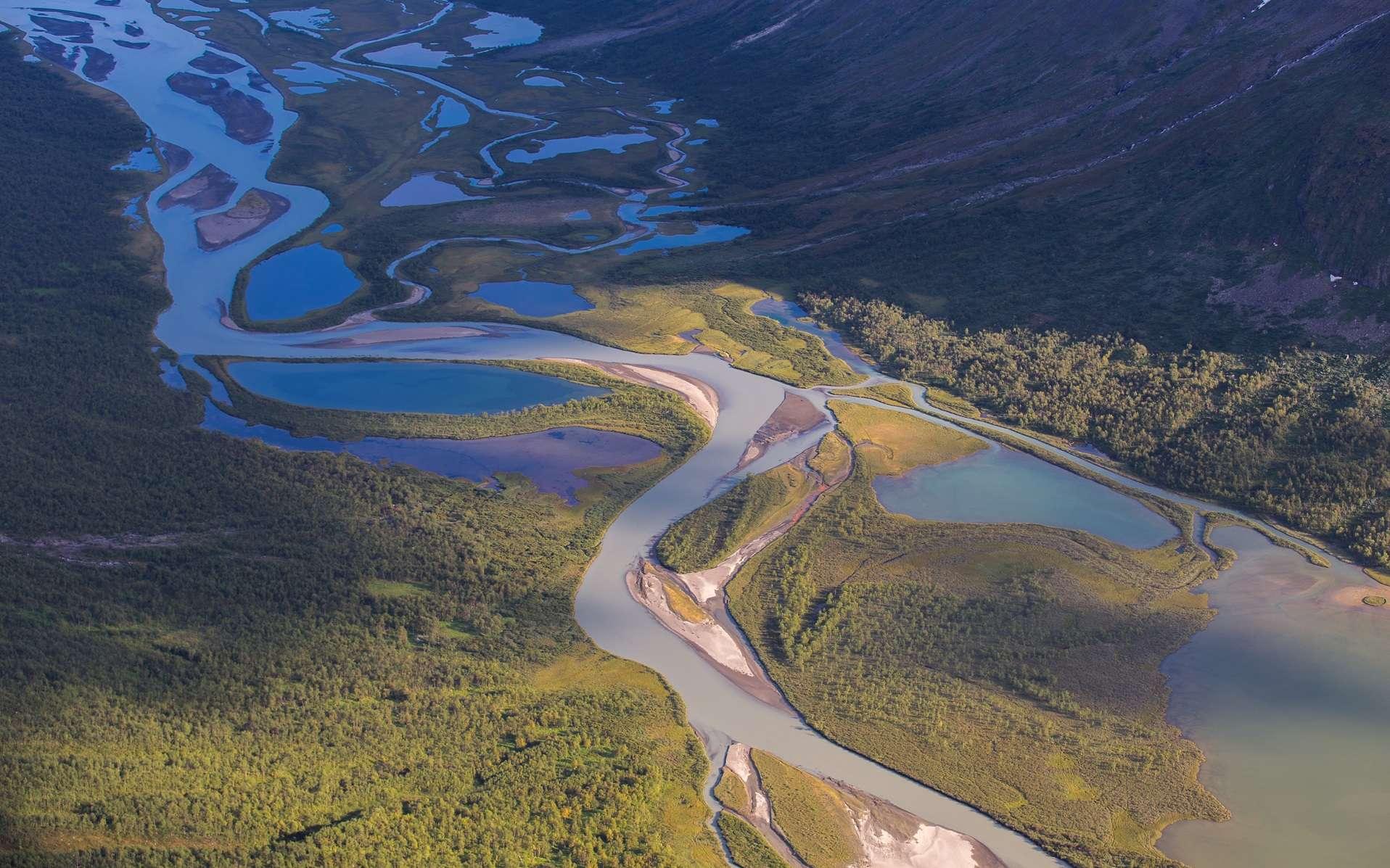 Rivière anastomosée. © Florian Konrad via imaggeo.egu.eu