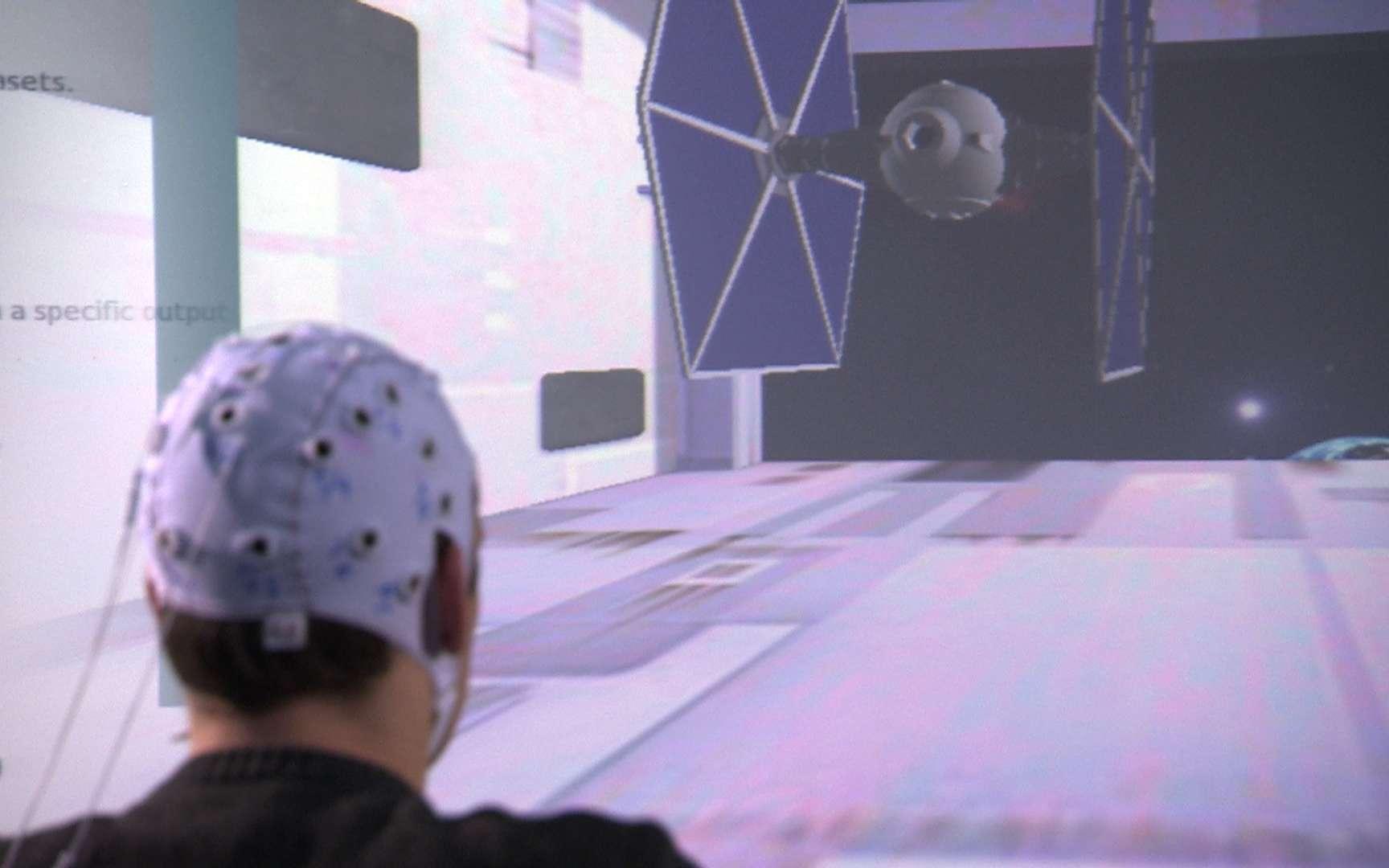 OpenVibe permet aussi de piloter un vaisseau spatial d'opérette. © DR