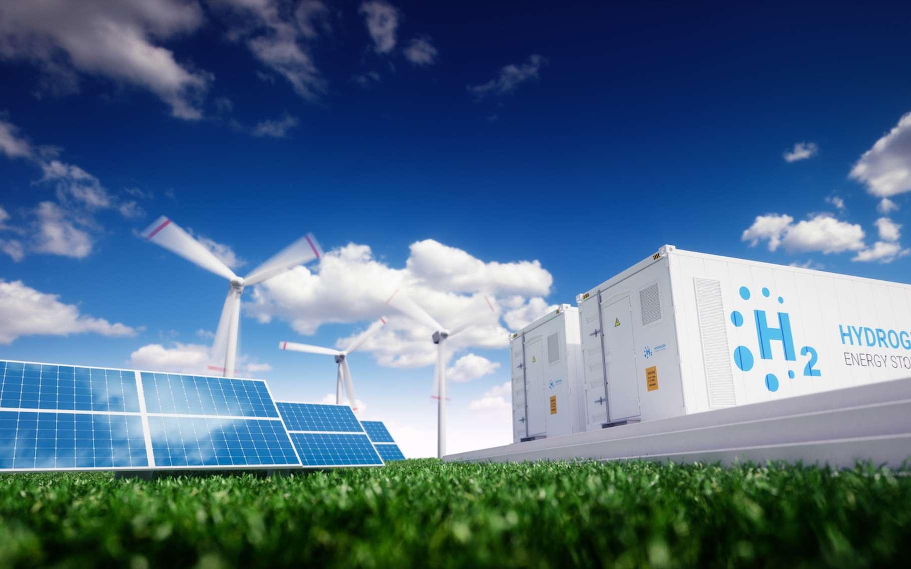 L'hydrogène vert — produit à partir d'eau et d'énergies renouvelables — pourrait occuper une place de choix dans la transition énergétique et dans notre effort de réduire notre empreinte écologique. © malp, Fotolia