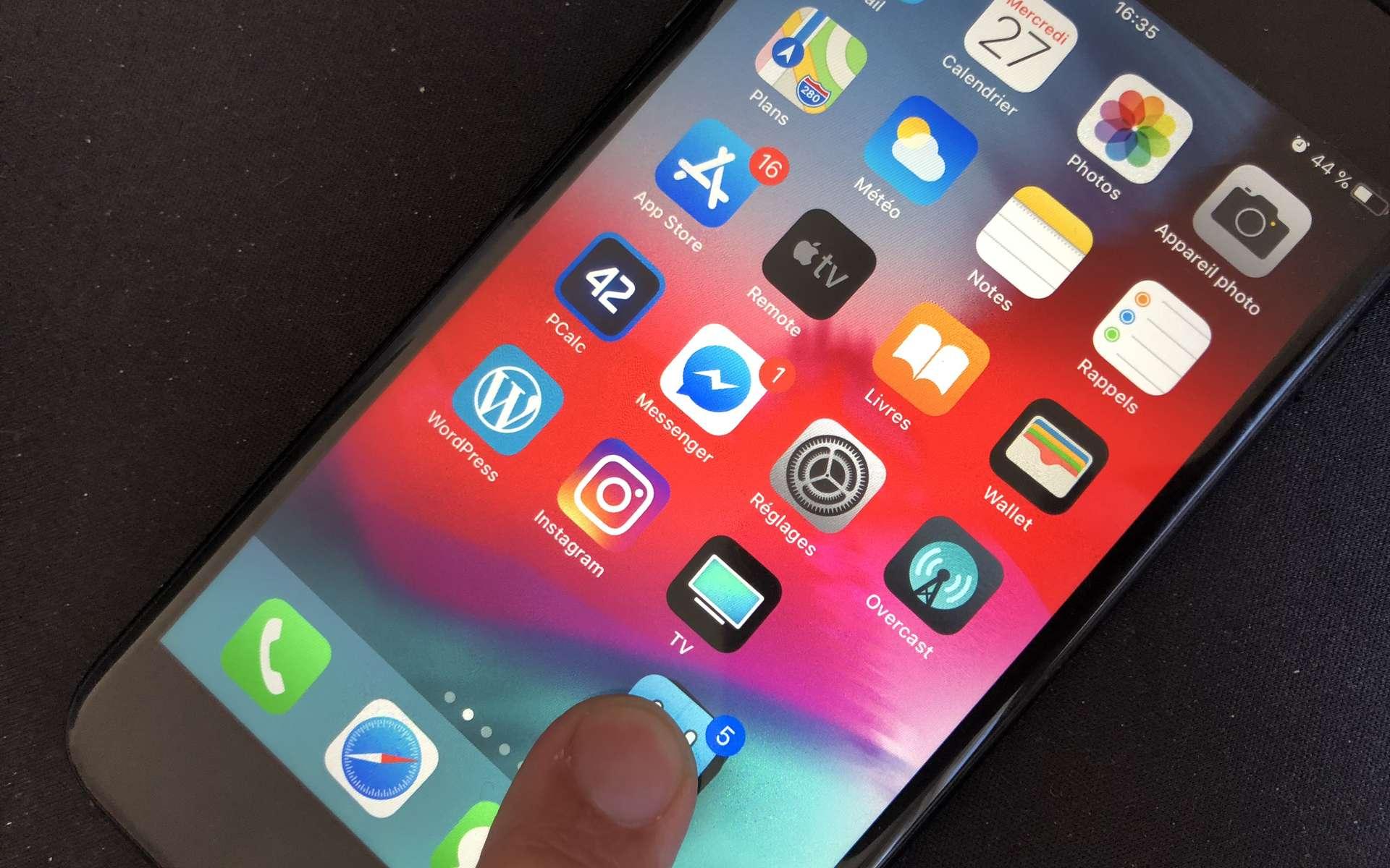 Inclus dans iOS, Mail est l'application utilisée par défaut sur iPhone et iPad © DR